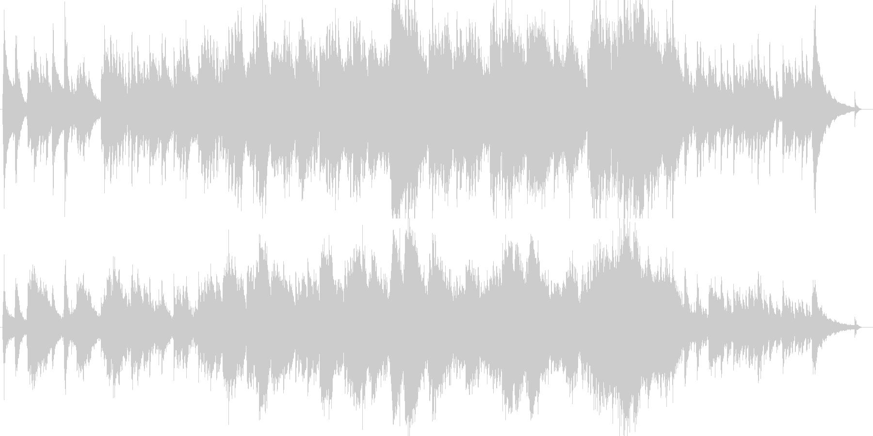 ピアノとギターが印象的な優しいバラードの未再生の波形