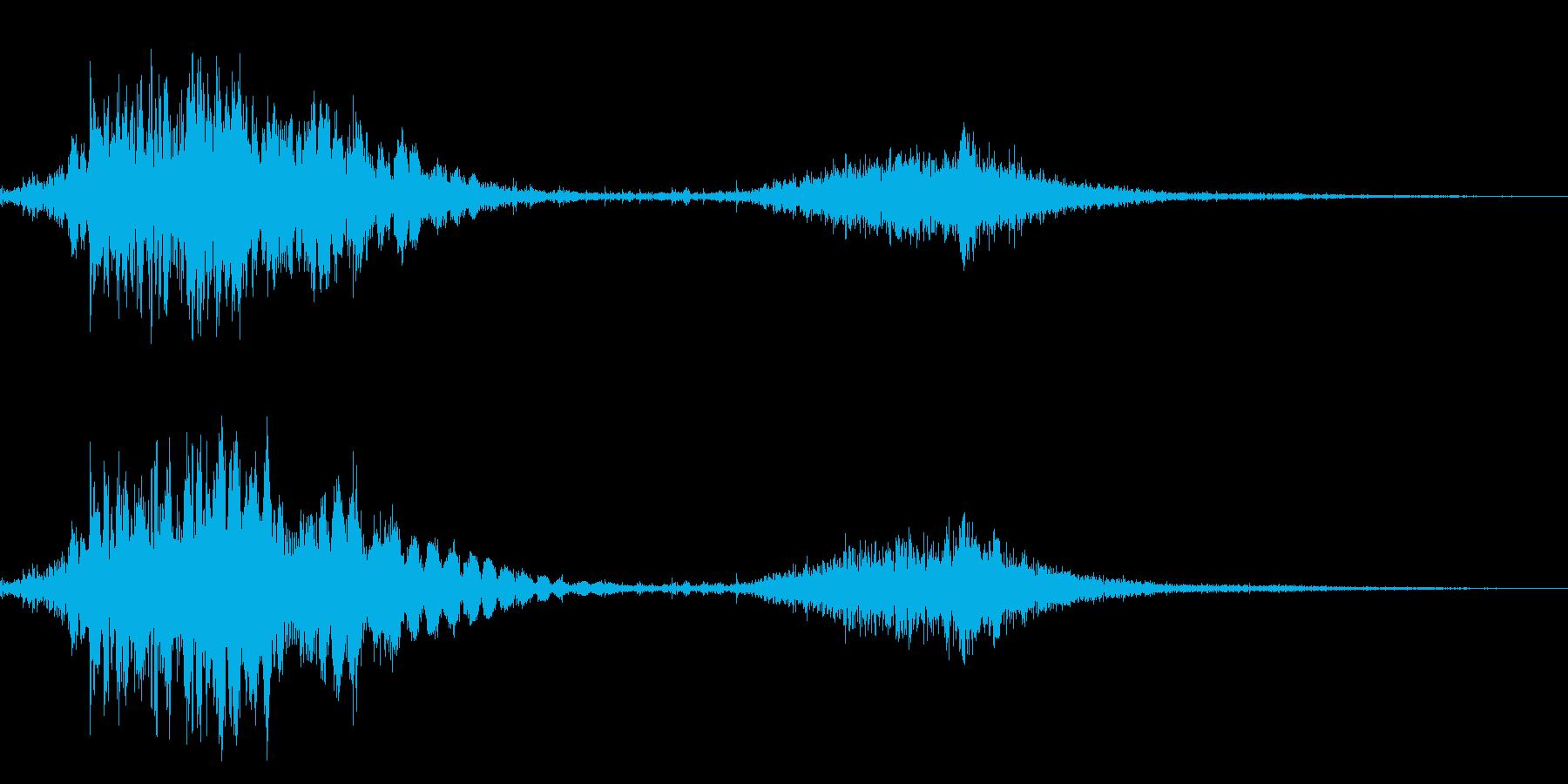 斬撃音!(刀や剣で斬る/刺す効果音)08の再生済みの波形