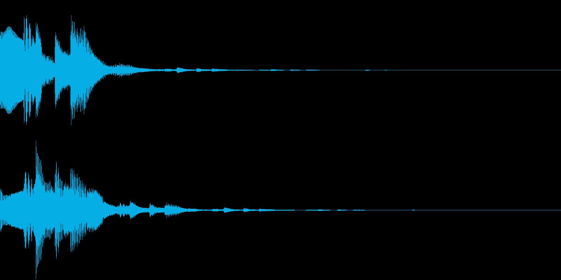 GameSFX ゲーム内の効果音 1の再生済みの波形