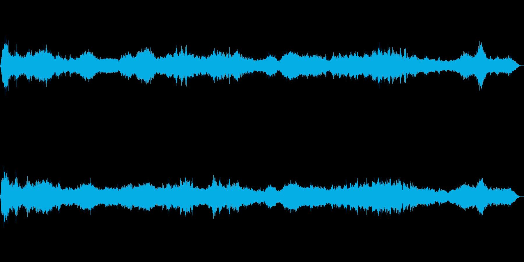 バーチャル世界の人工合成的な海岸の再生済みの波形