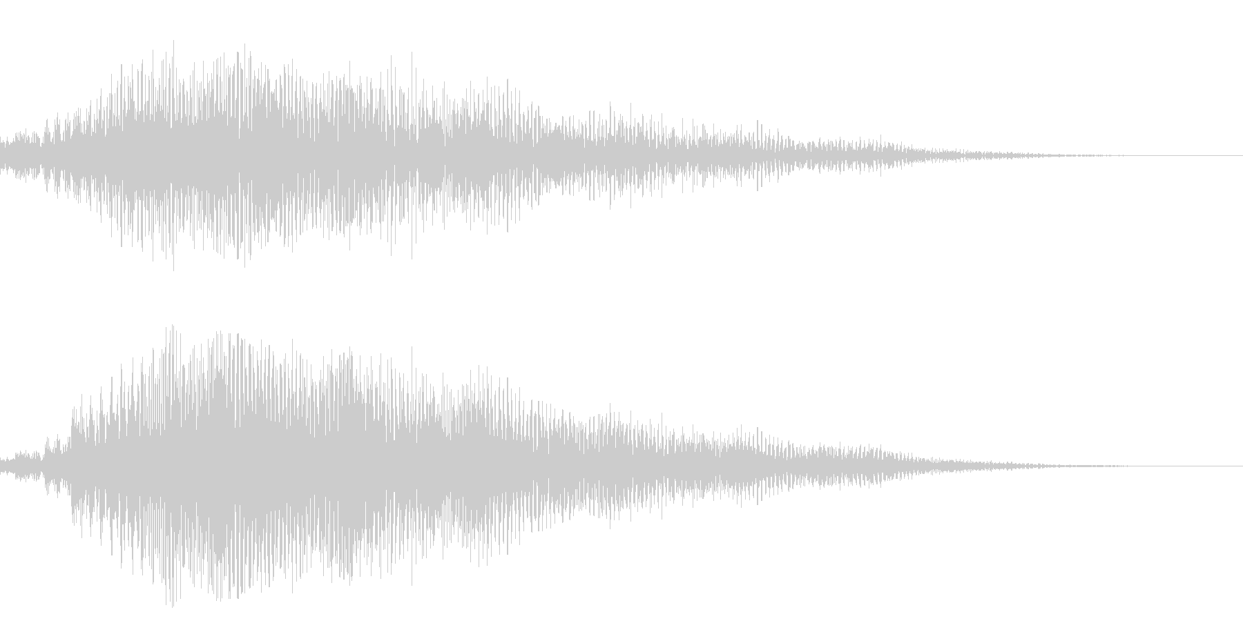 サスペンスなどにありそうな、ビブラフォ…の未再生の波形