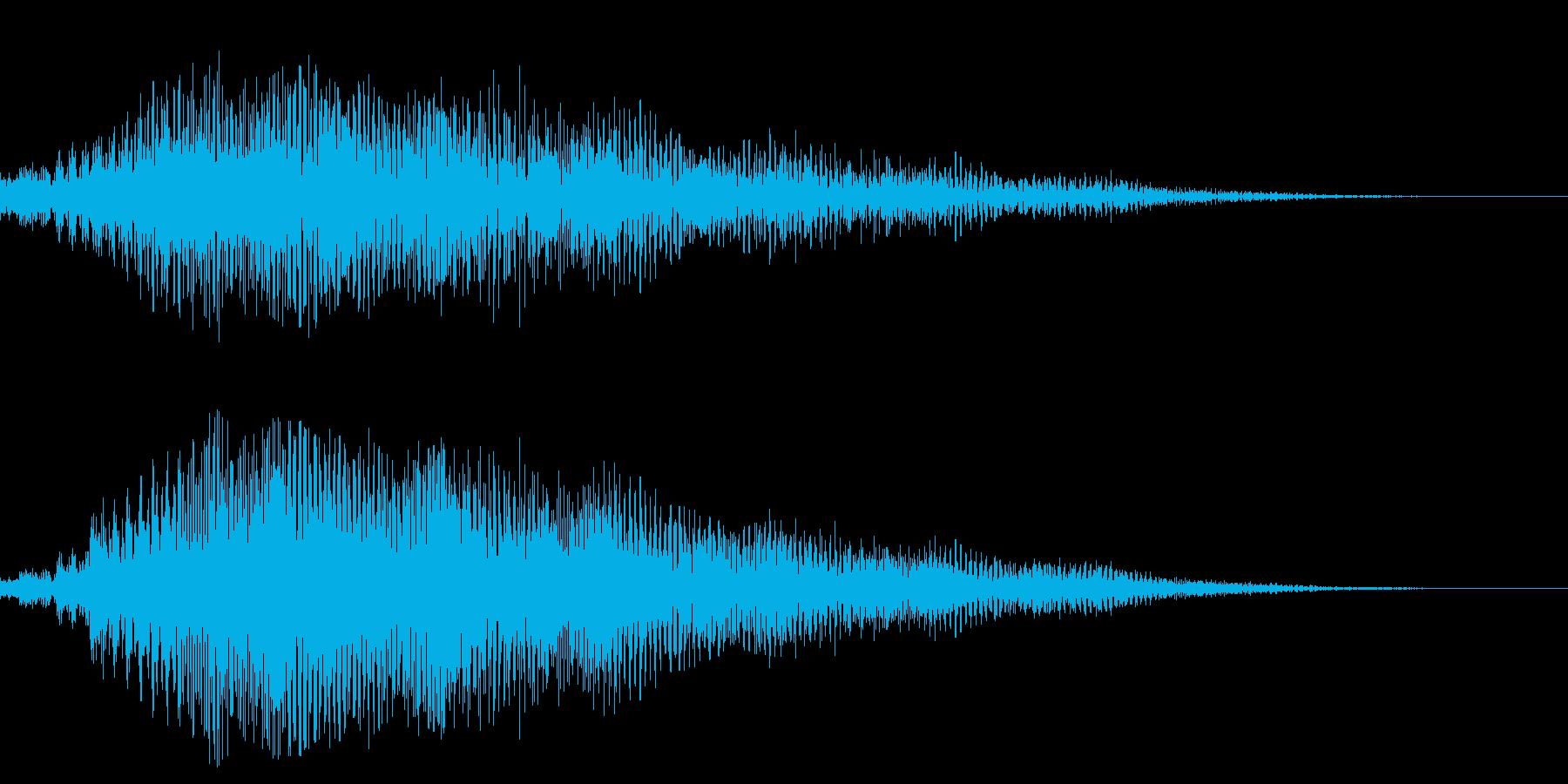 サスペンスなどにありそうな、ビブラフォ…の再生済みの波形
