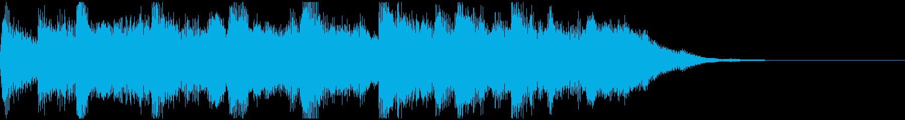 優しく包み込まれるようなショートBGMの再生済みの波形