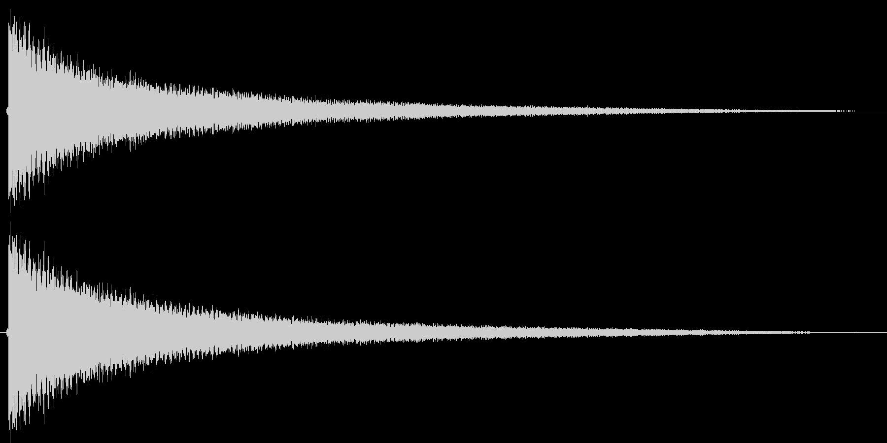 ギャグシーン等で使われる、チーンという…の未再生の波形
