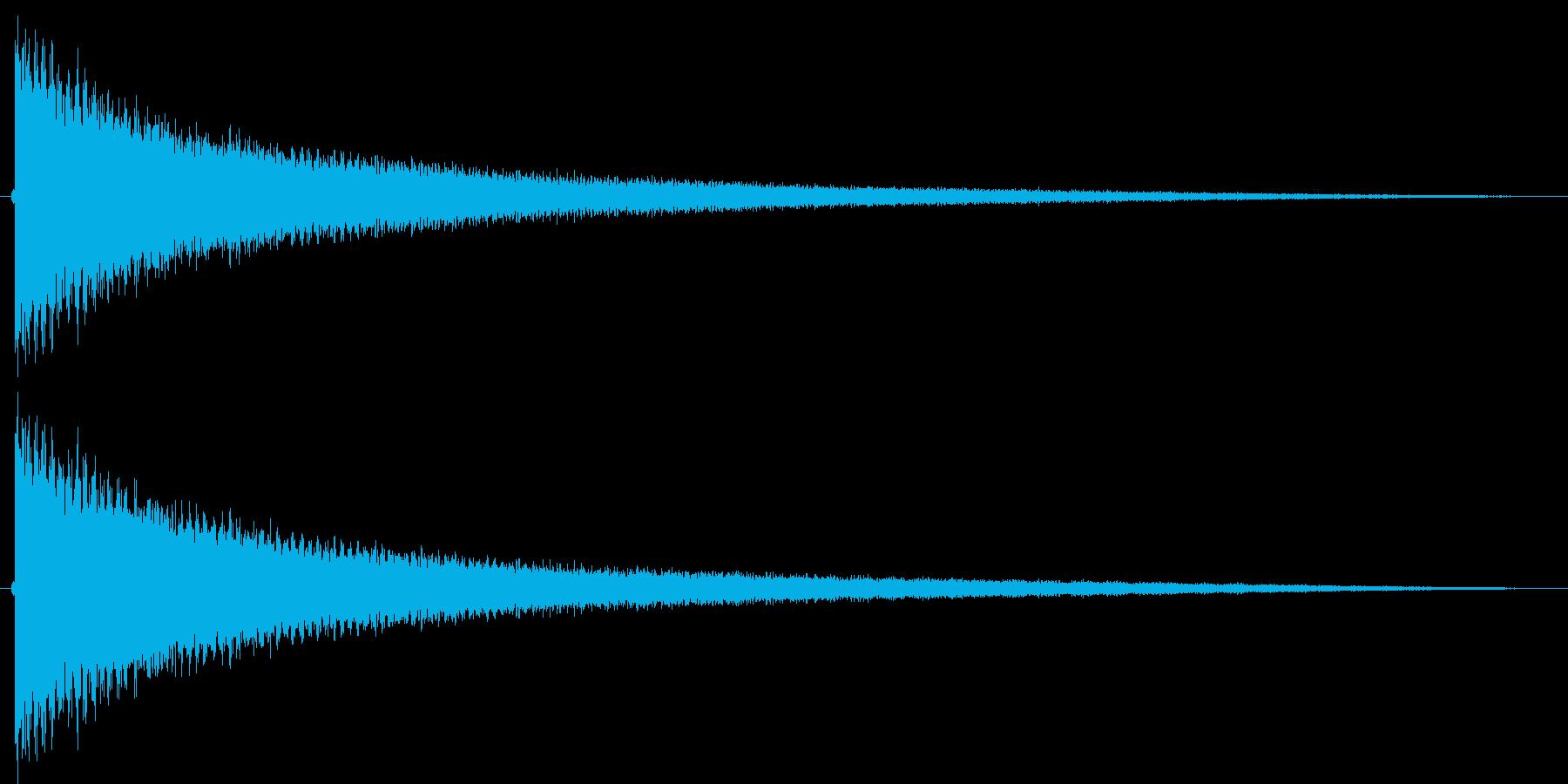 ギャグシーン等で使われる、チーンという…の再生済みの波形