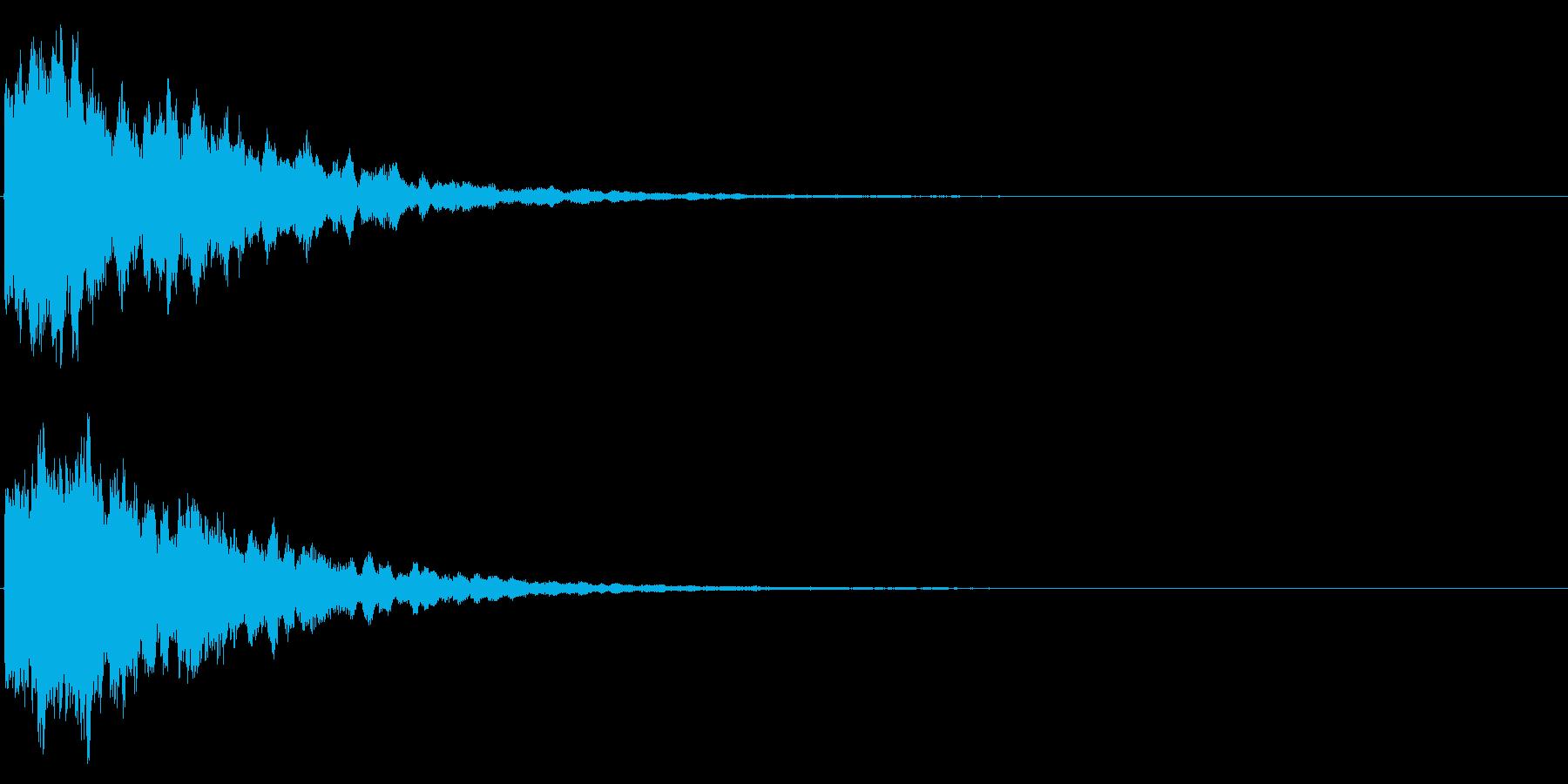 ゲームスタート、決定、ボタン音-174の再生済みの波形