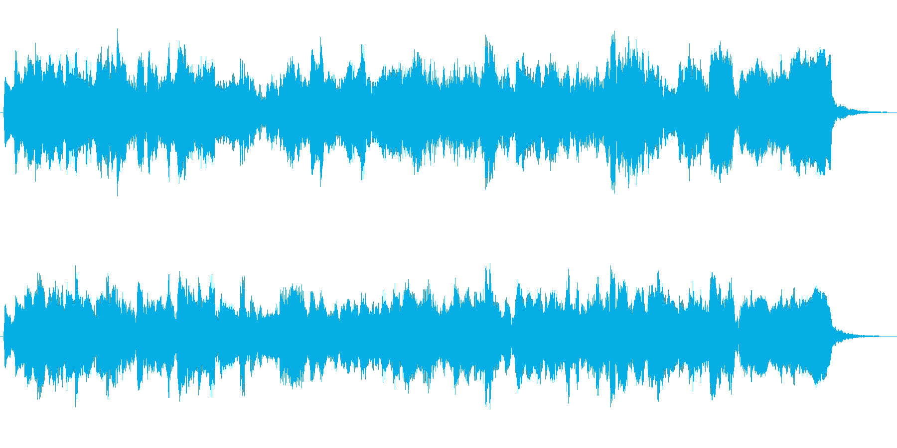 オルガンによるオランダ風ワルツの再生済みの波形