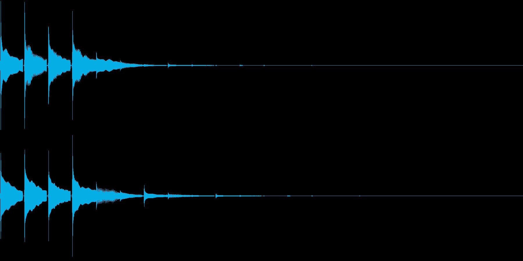 Cash デジタルな通貨の支払い音の再生済みの波形