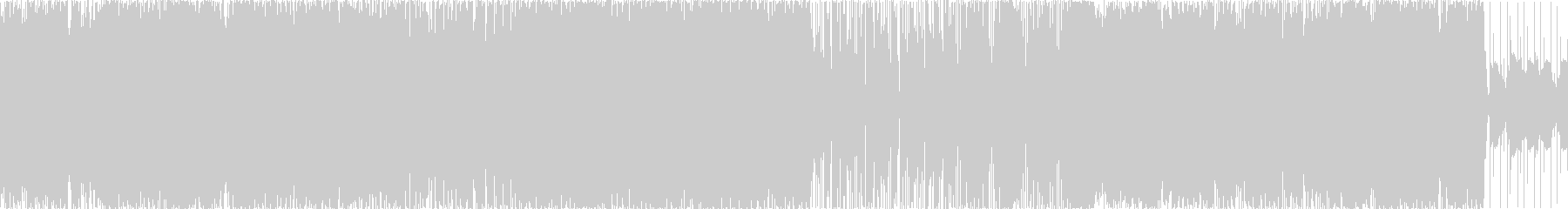 軽快なリズムのポップなロックの未再生の波形