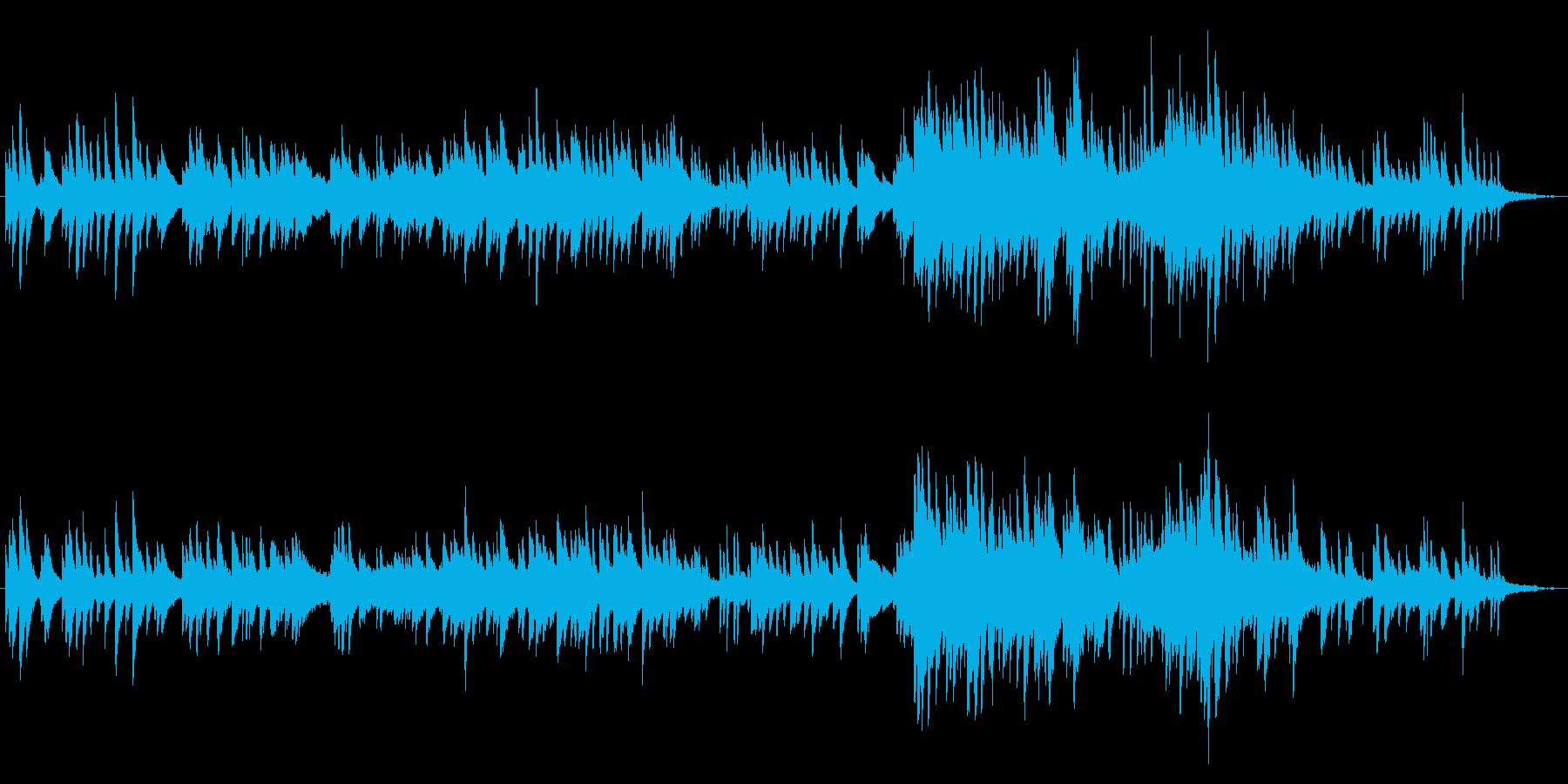 森の中の空気や水を表した曲の再生済みの波形