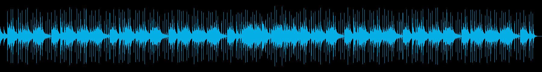 神殿や感動的シーンで使えそうなアルペジオの再生済みの波形
