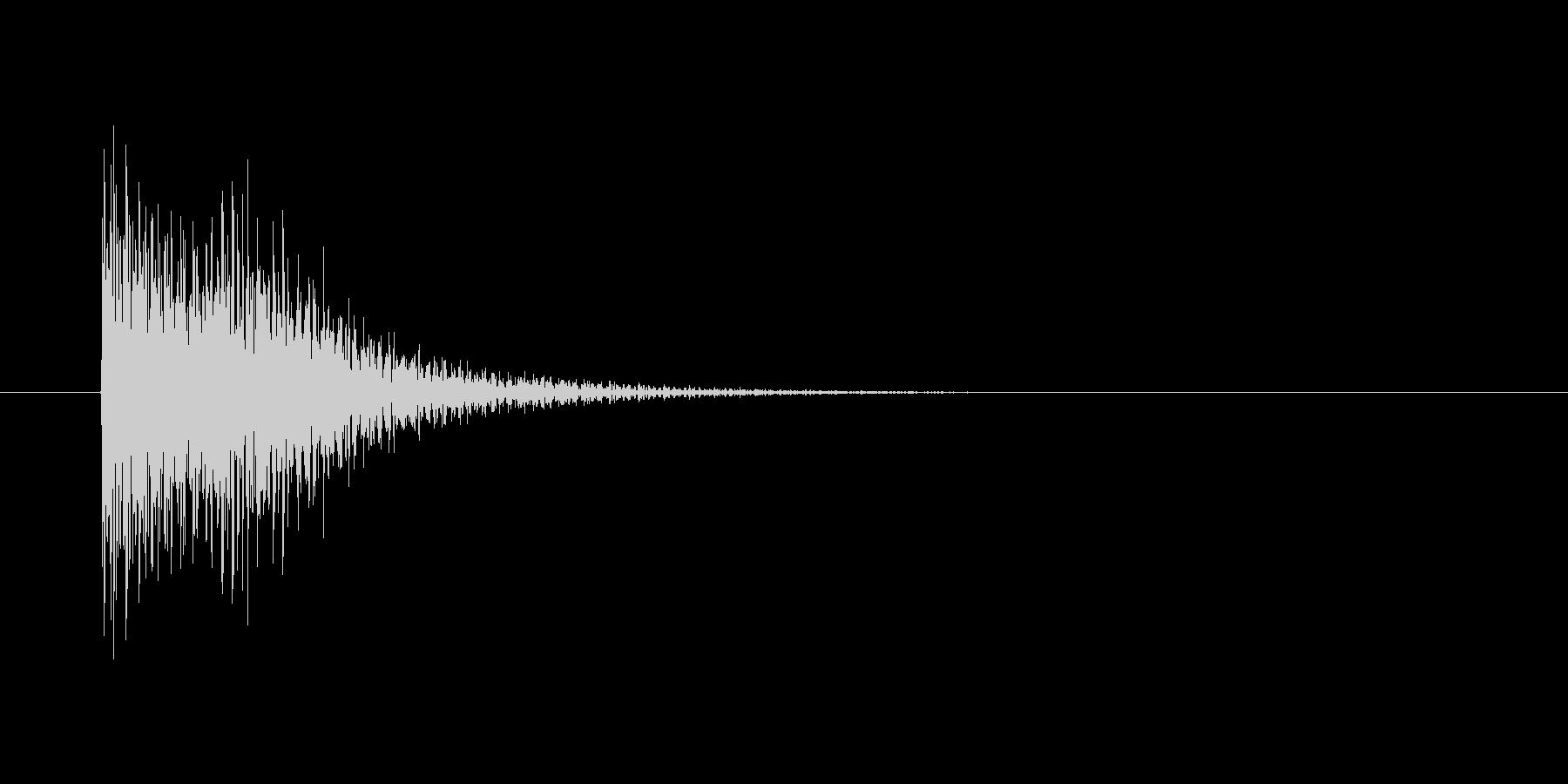 ボタン(テテン)の未再生の波形