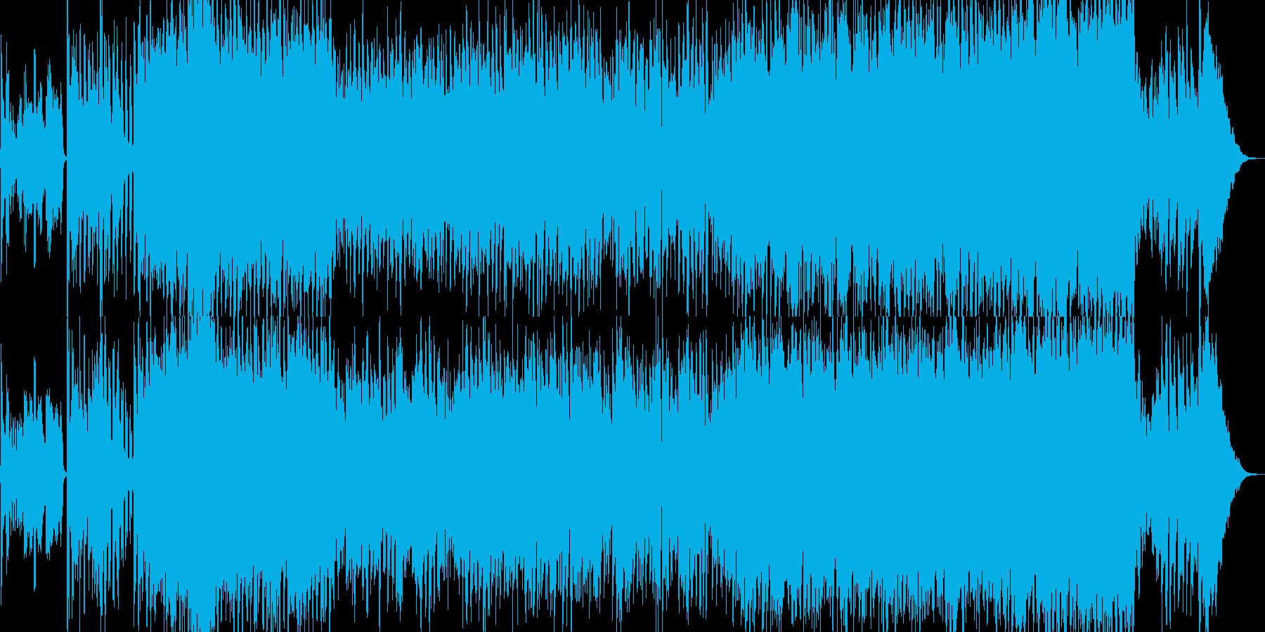 和風テクノ企業VPオーケストラBGM都会の再生済みの波形