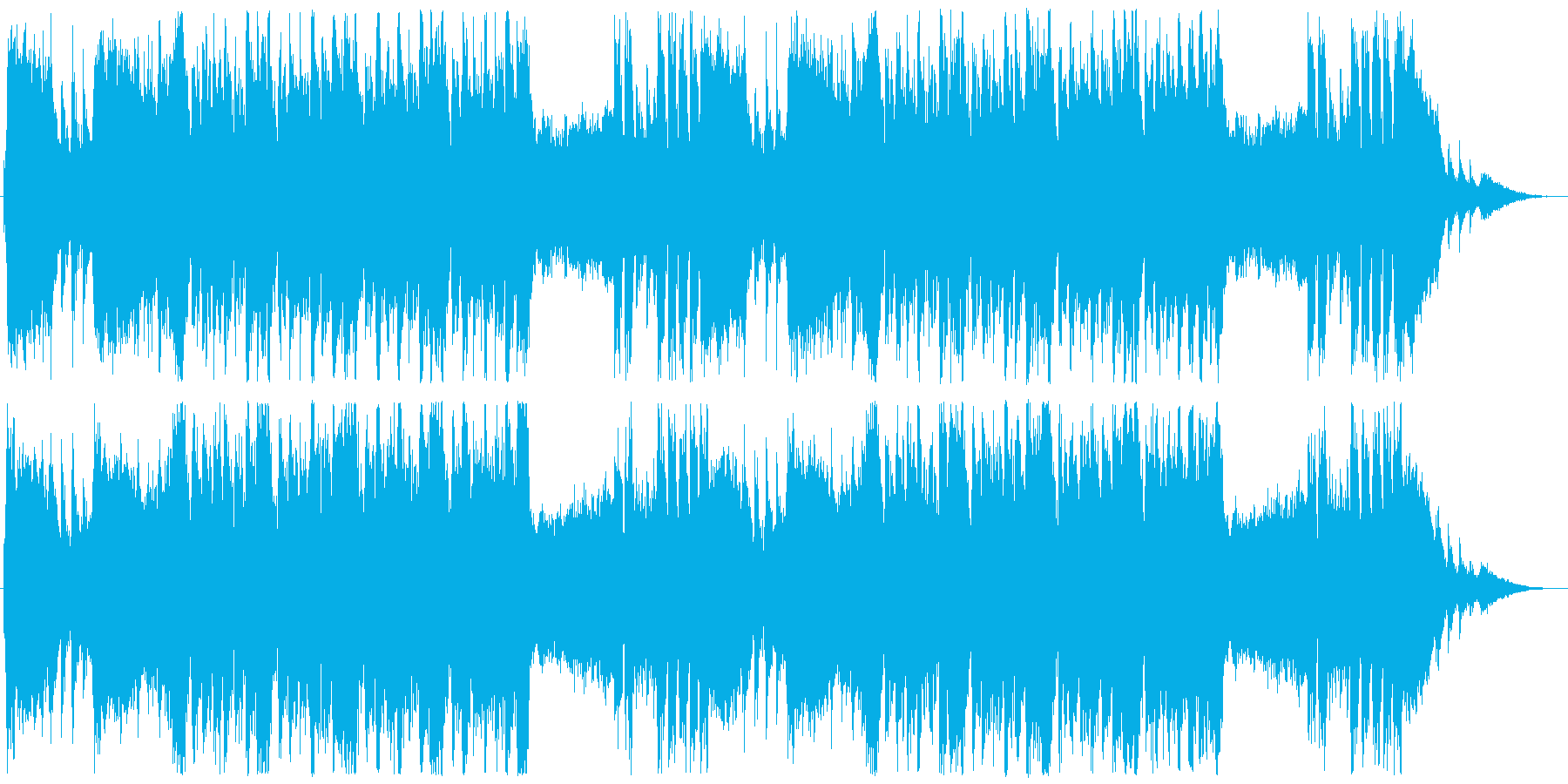 荘厳でダークな雰囲気のBGMの再生済みの波形