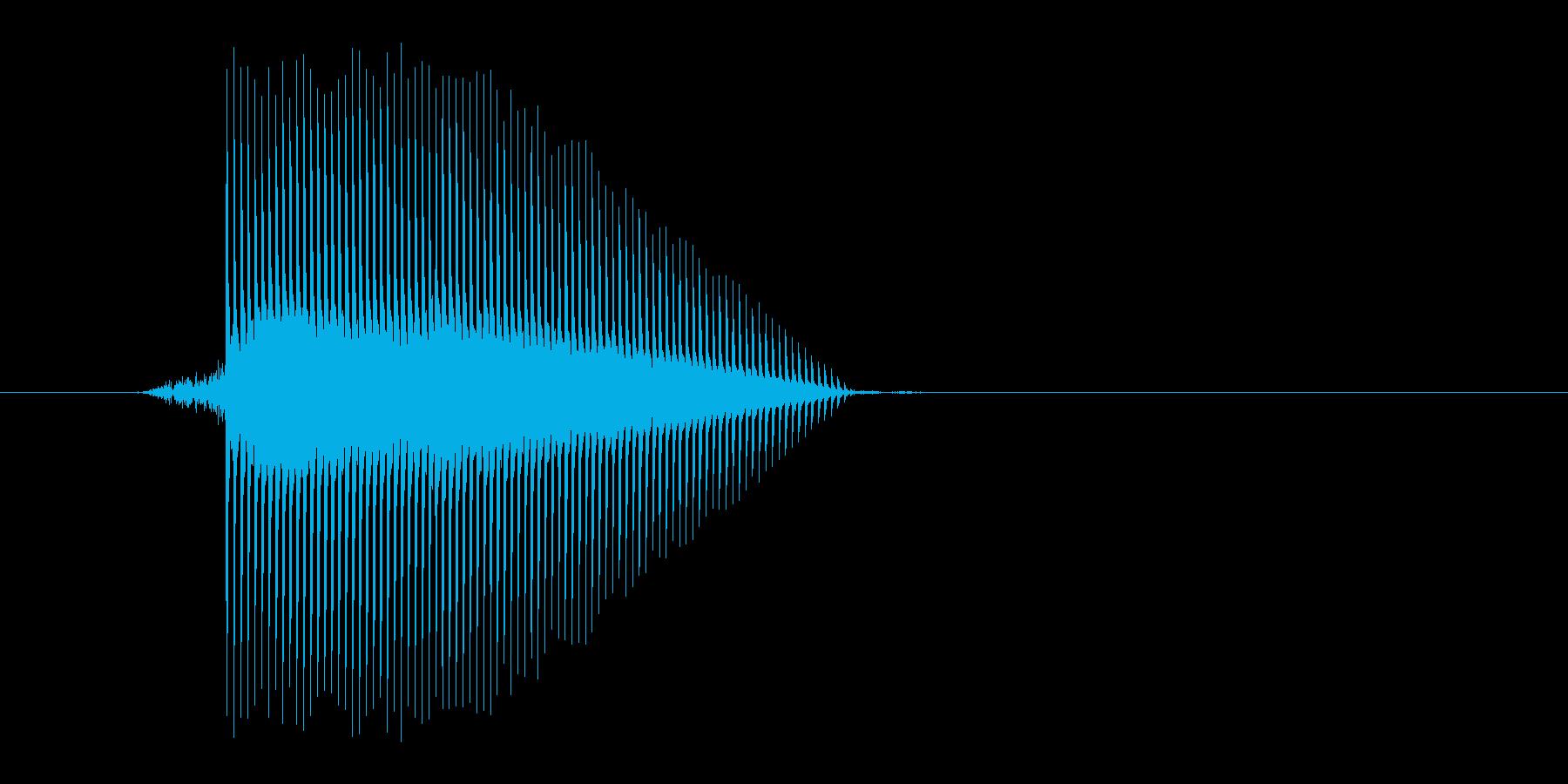 ゲーム(ファミコン風)ジャンプ音_037の再生済みの波形