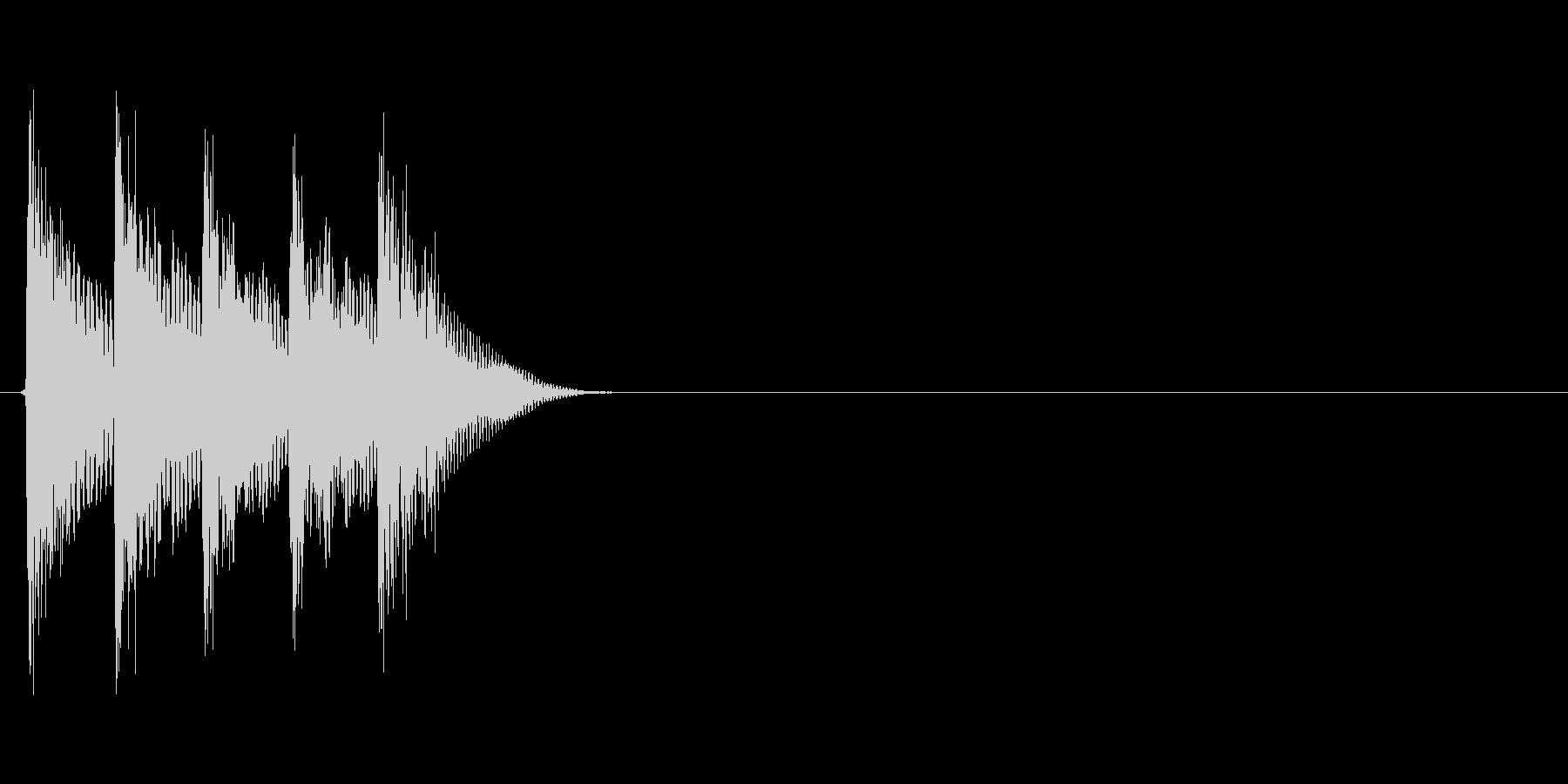 タララララン↑(場面転換、自然、低め)の未再生の波形