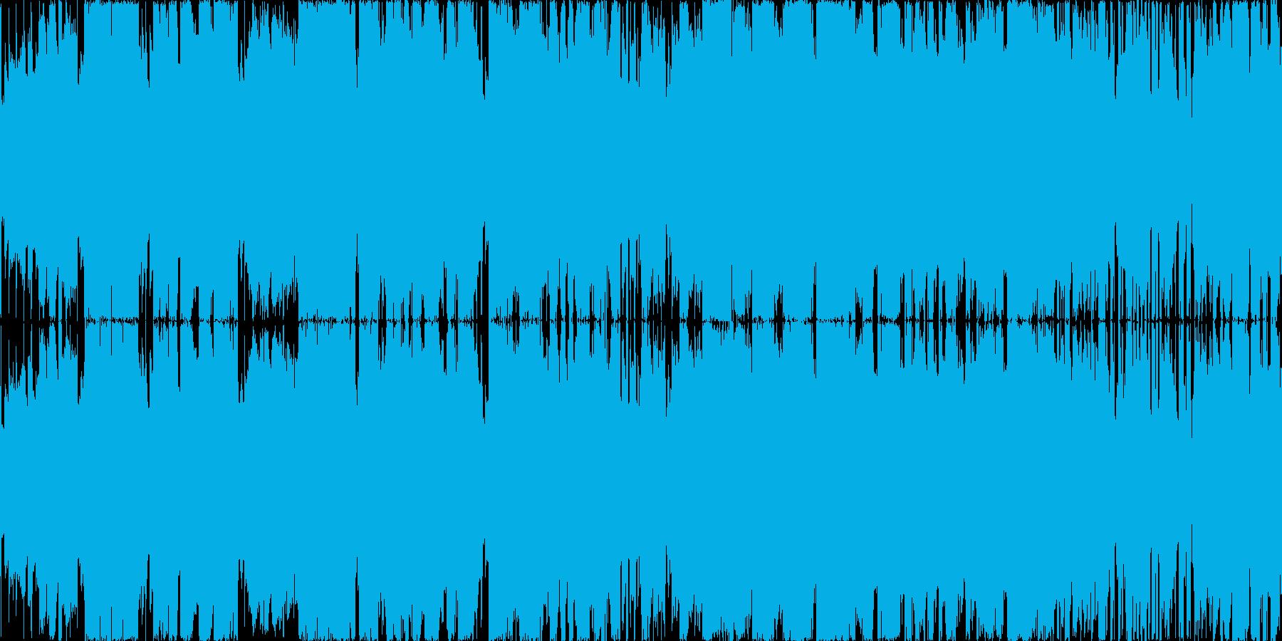 ボス戦用チップチューン高揚感のある戦闘曲の再生済みの波形