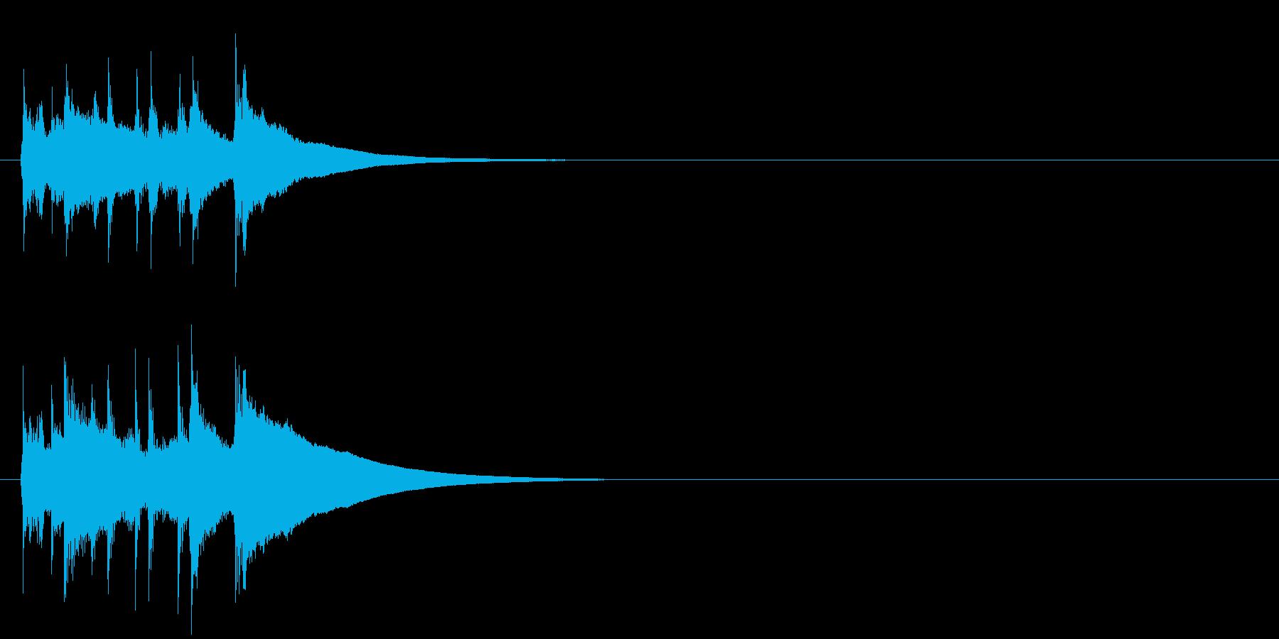 ジングル/コミカル(ズッコケ/阿波踊り)の再生済みの波形