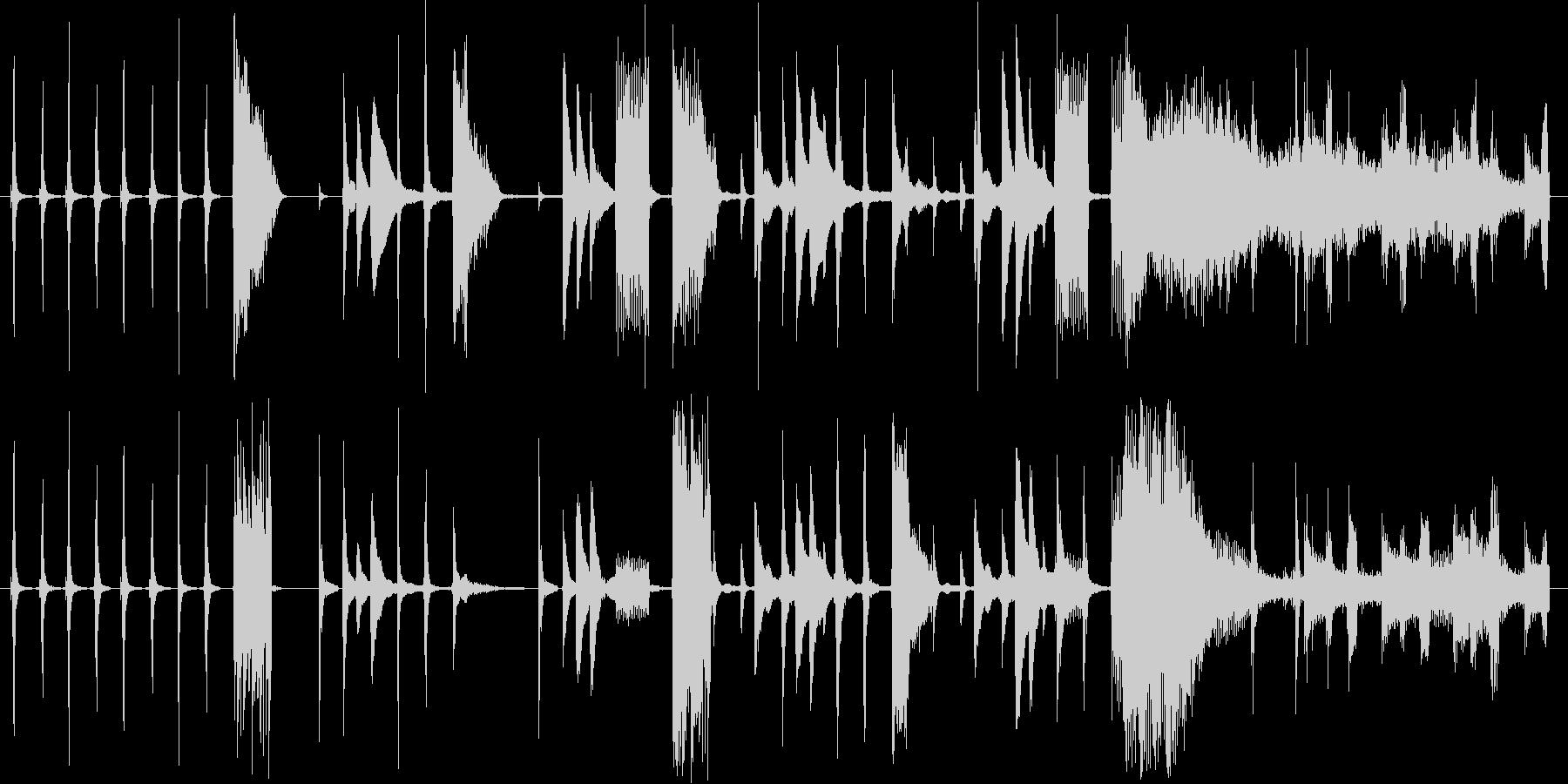 色々な時計の音を使ったCM用BGMの未再生の波形