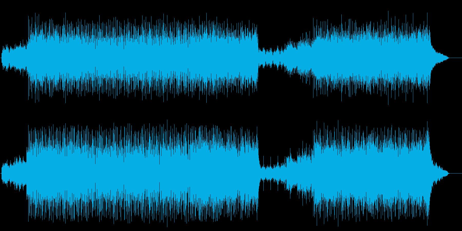 爽やかなアコースティック調ポップロックの再生済みの波形