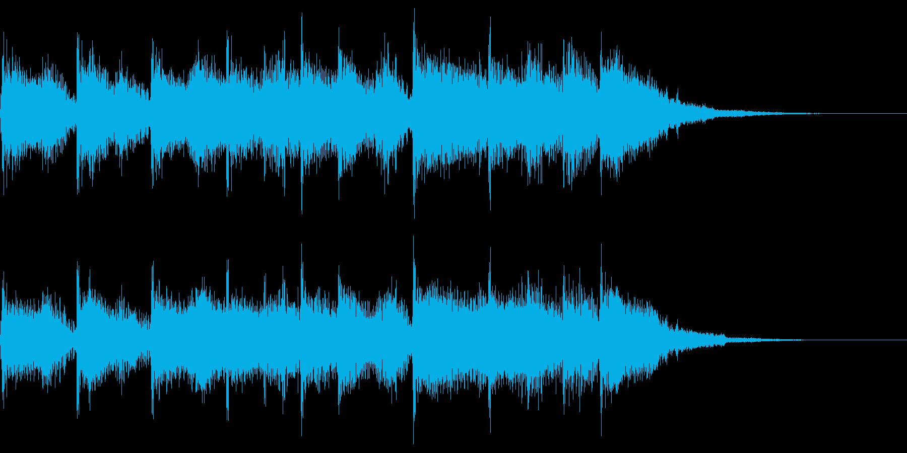 スポーツ系ジングル(5秒)の再生済みの波形