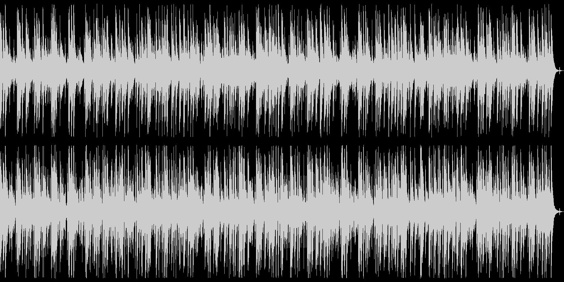 ウクレレとナイロンギターのほのぼのBGMの未再生の波形