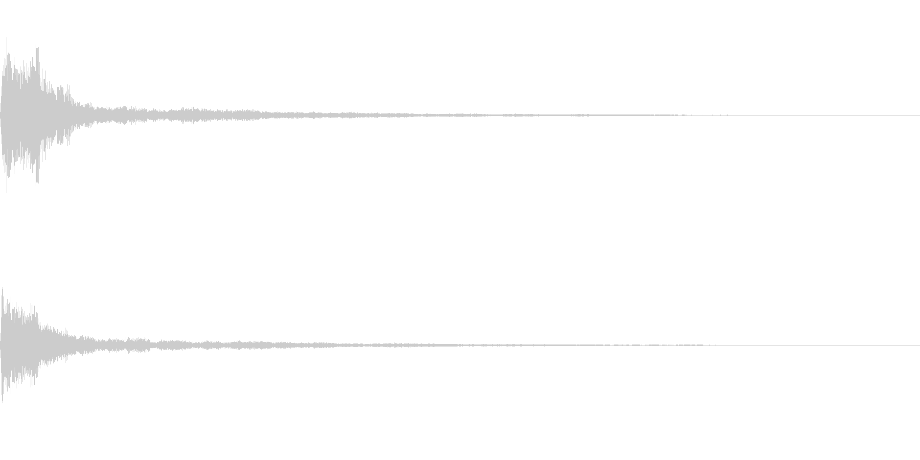 テロップ音~明るめのピアノの4和音~の未再生の波形