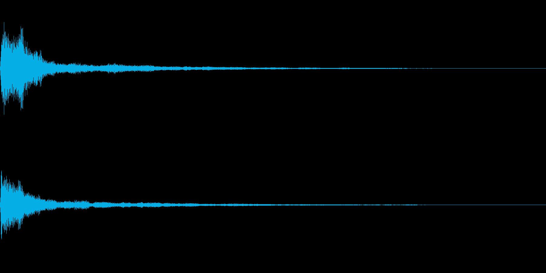 テロップ音~明るめのピアノの4和音~の再生済みの波形