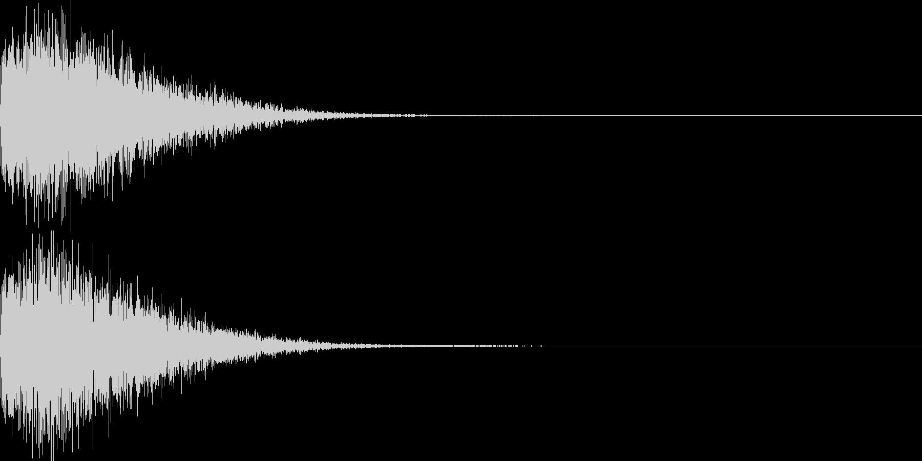 バキューン!(ピストルの発砲音)その3の未再生の波形