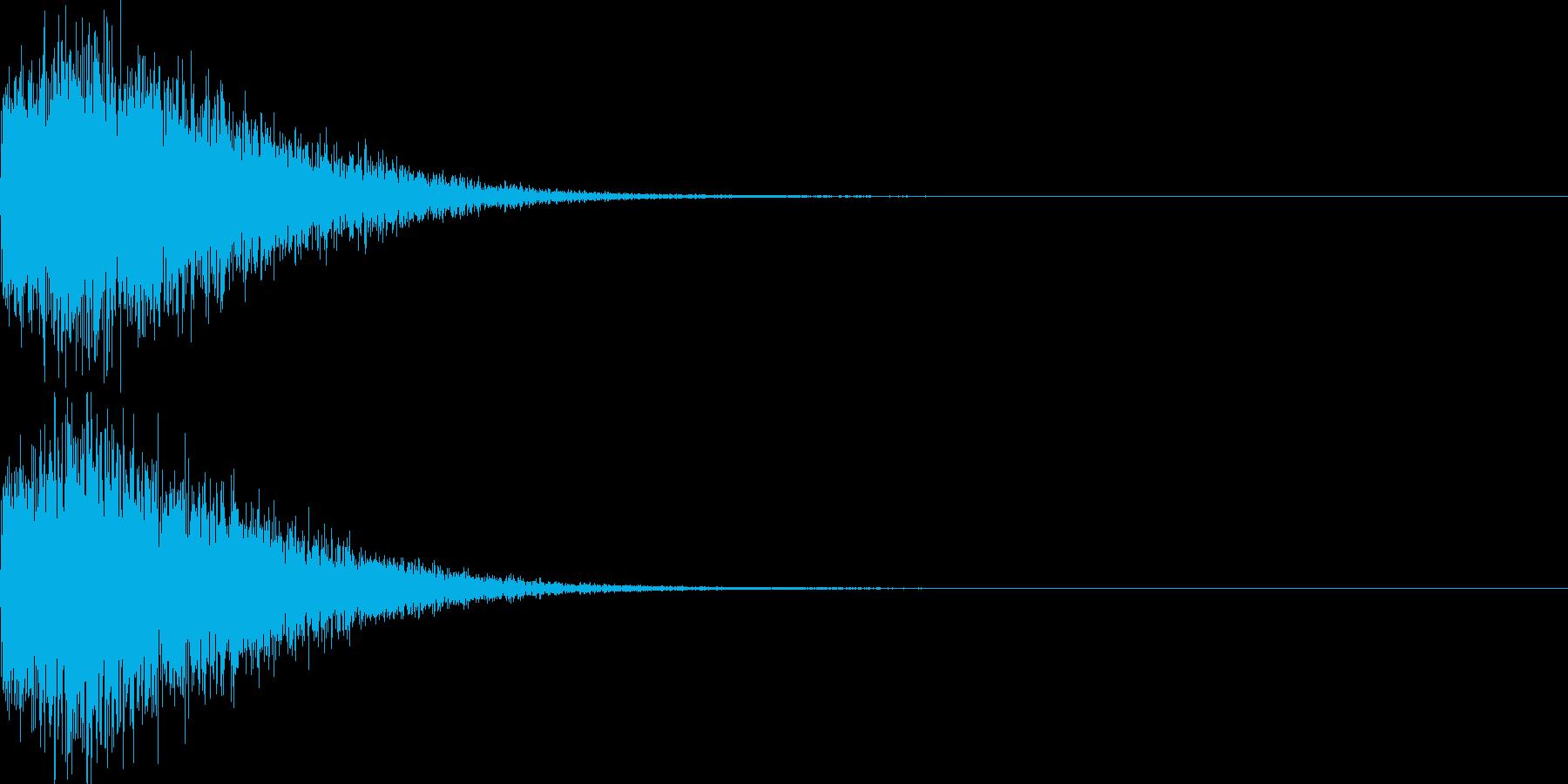 バキューン!(ピストルの発砲音)その3の再生済みの波形