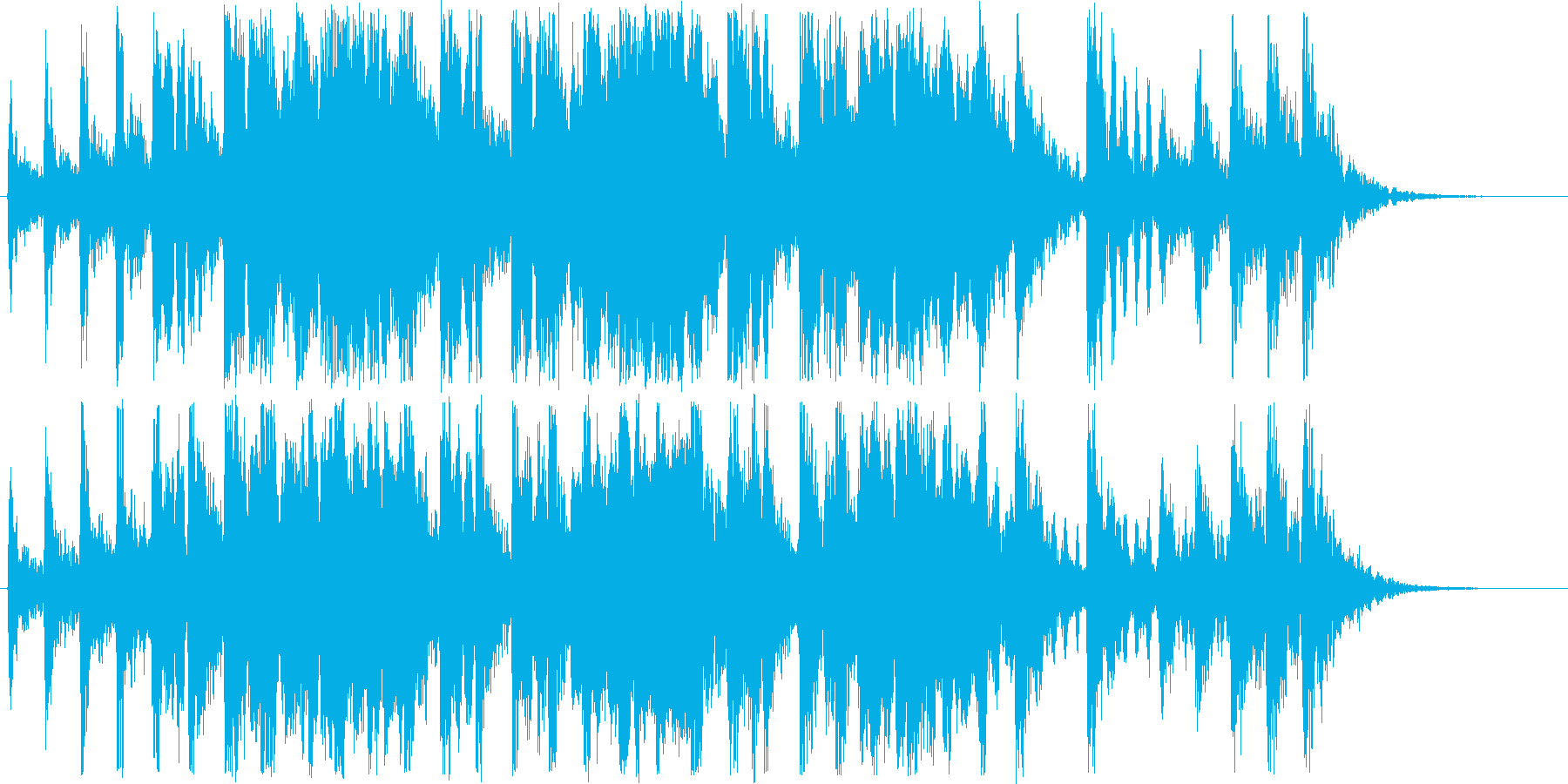 楽しげなシンセ・木琴・弦楽器など短めの再生済みの波形