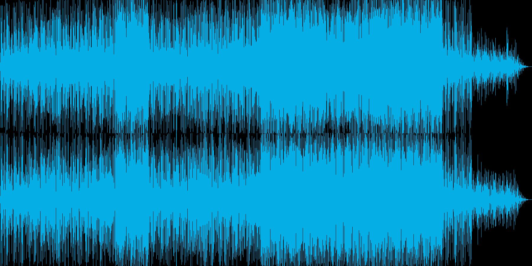 軽快な雰囲気のスムースジャズ風ポップスの再生済みの波形