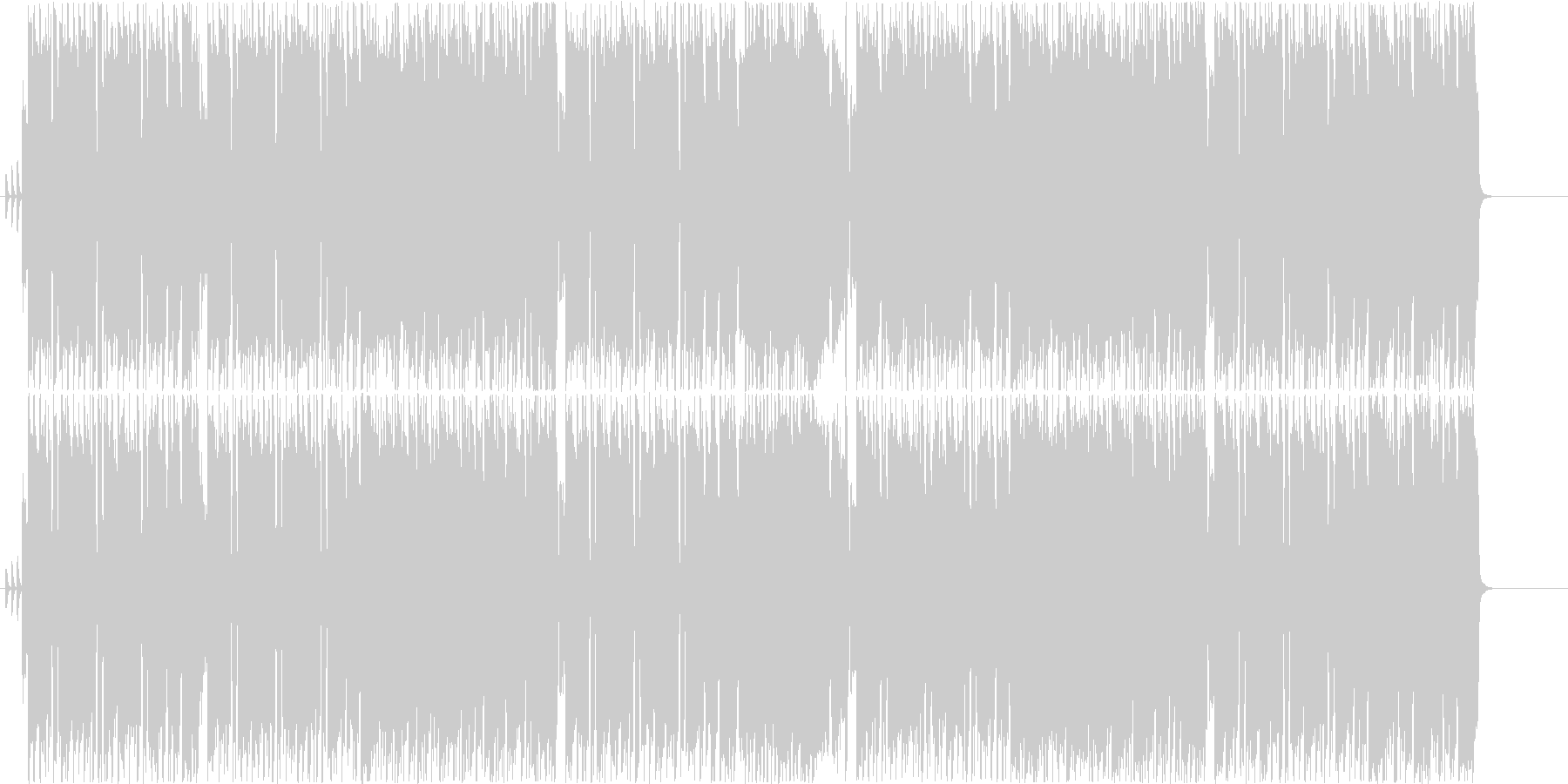ギターインスト歌謡ロックの未再生の波形