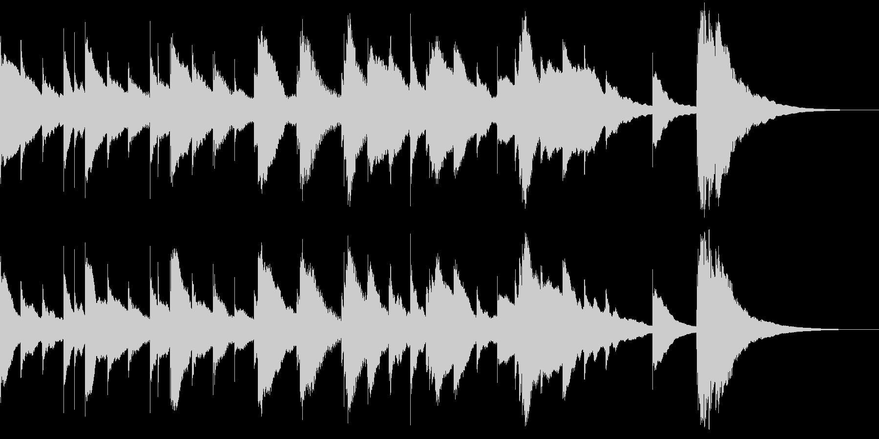 オルゴールが奏でるBGMの未再生の波形