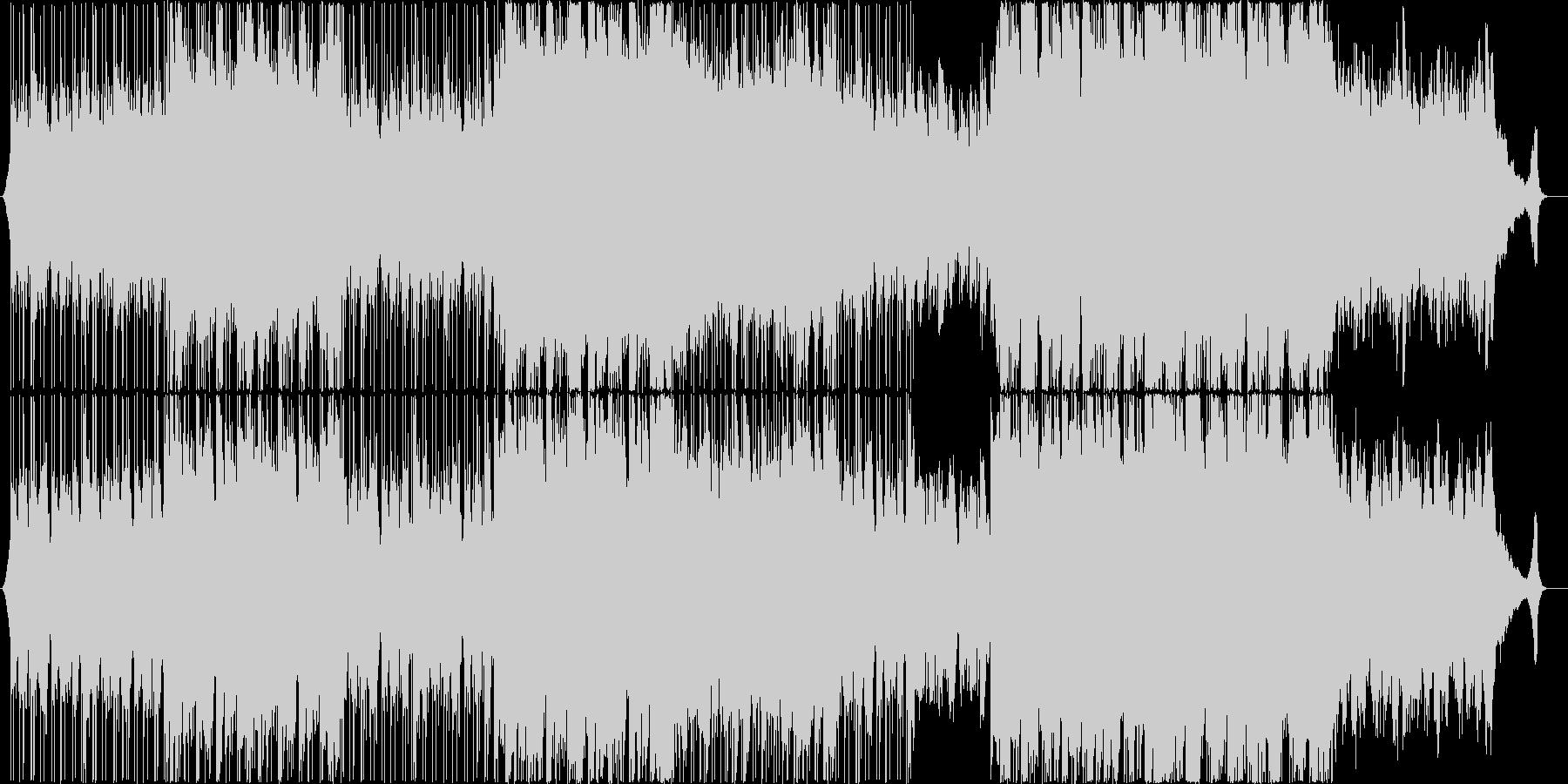 ②綺麗なアコースティックヒップポップの未再生の波形