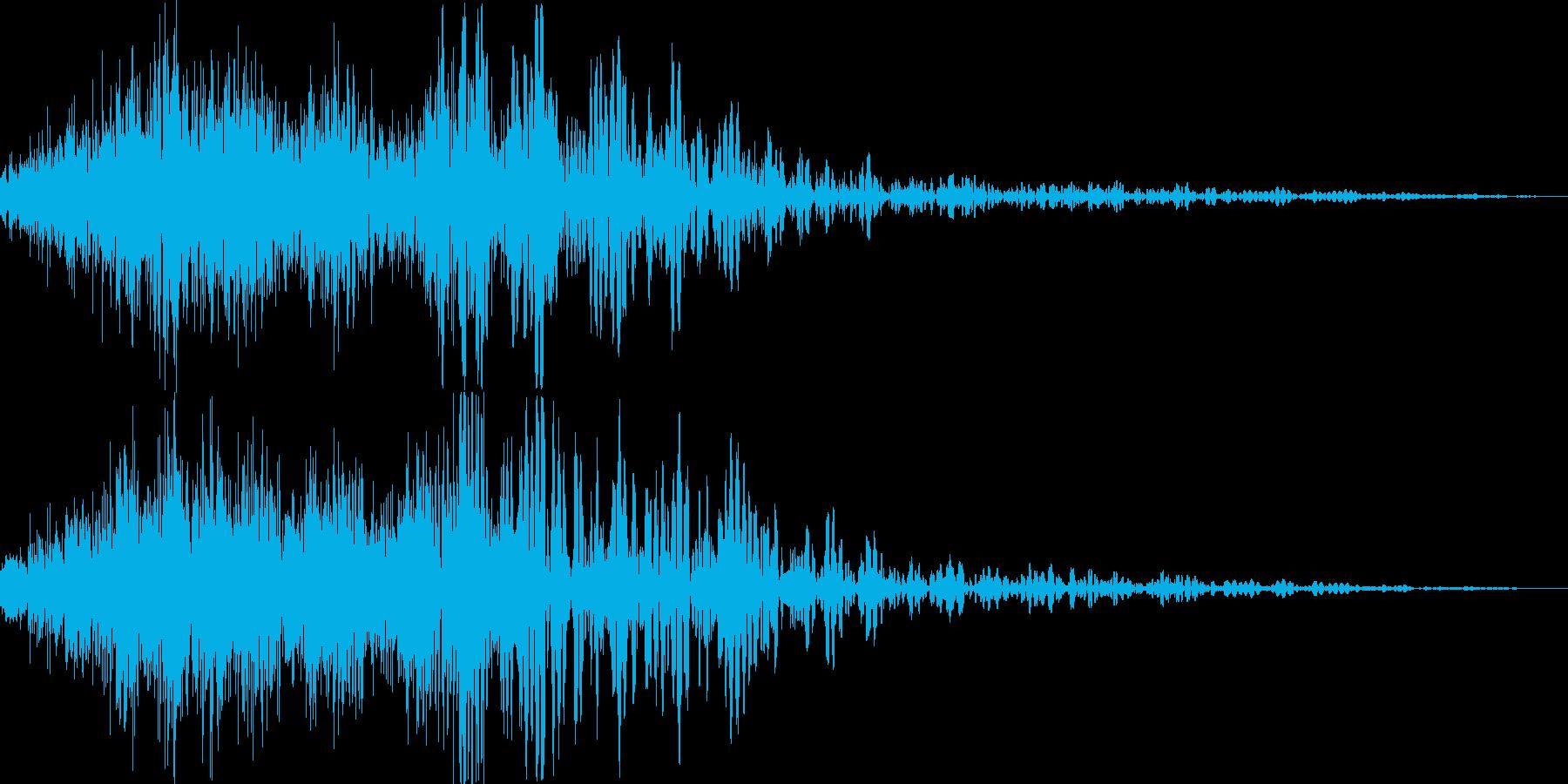 重力魔法(反重力空間の音)の再生済みの波形