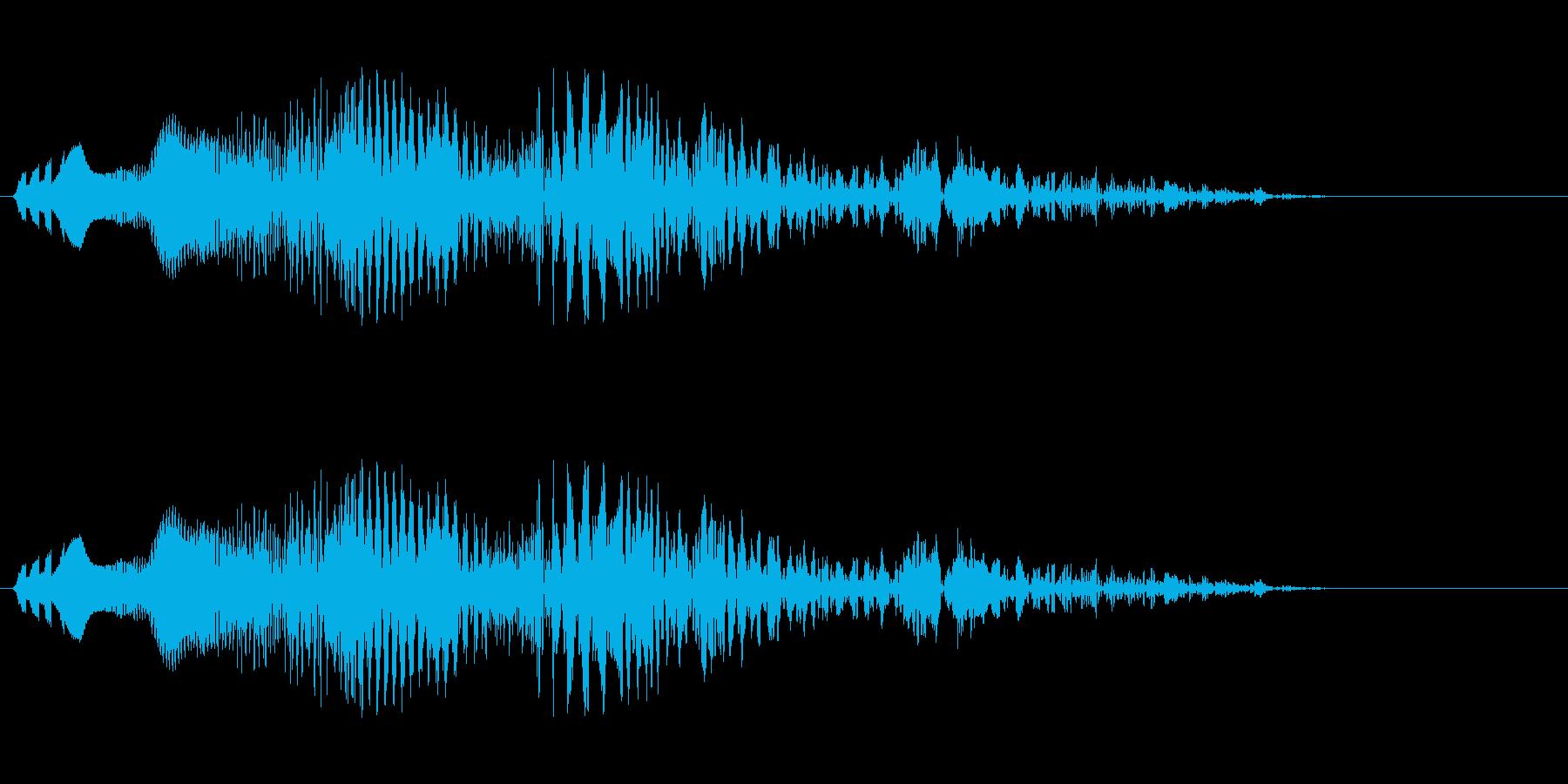 ギュルルルル(落下するような効果音)の再生済みの波形