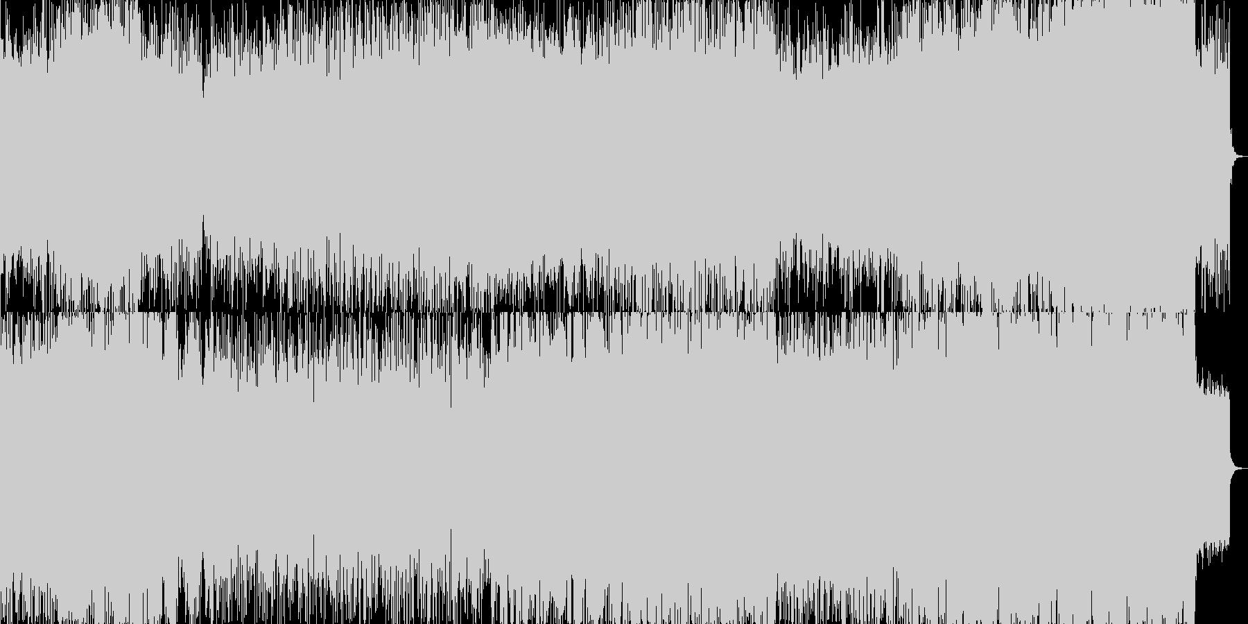 終局的な戦闘シーンを想定したBGMの未再生の波形