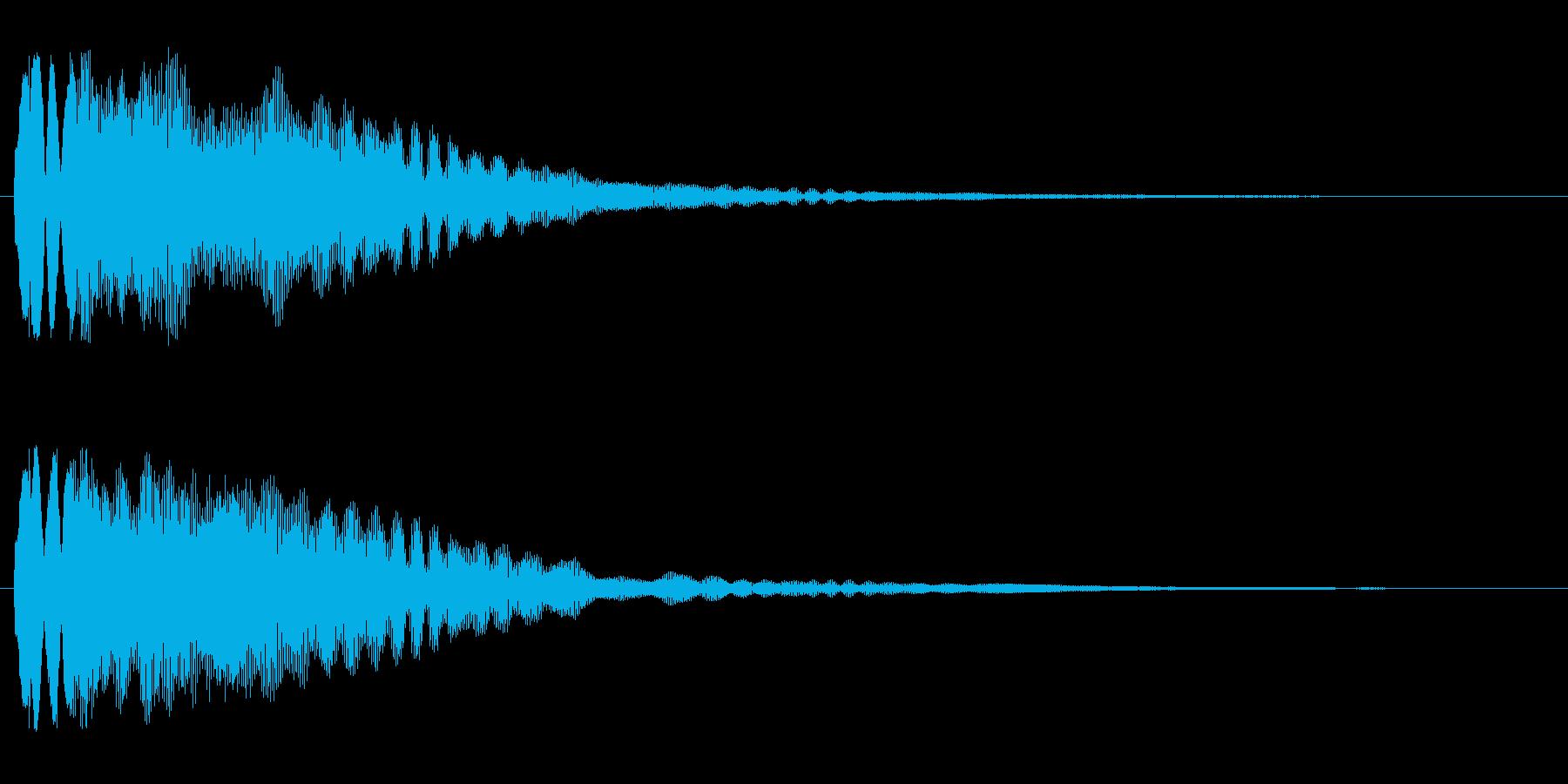 キラリ〜ン(下降系)の再生済みの波形