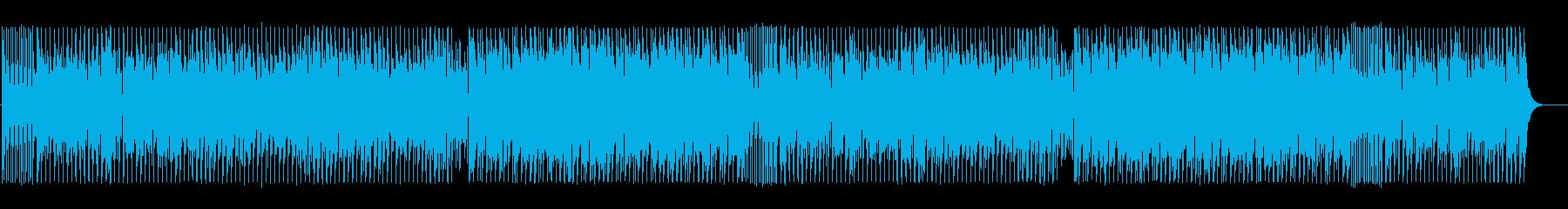 奇怪で不思議なテクノBGMの再生済みの波形