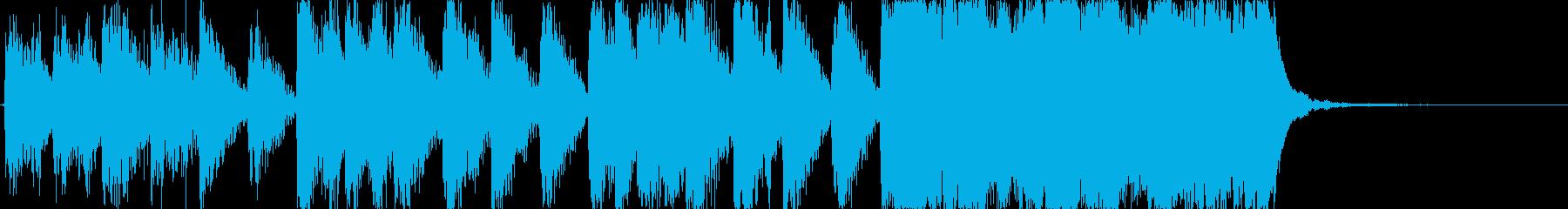 ゲーム等に最適な、少し長めのファンファ…の再生済みの波形
