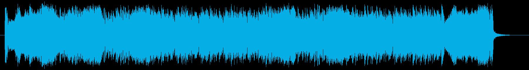 盛大で勢いのある管楽器シンセサウンドの再生済みの波形