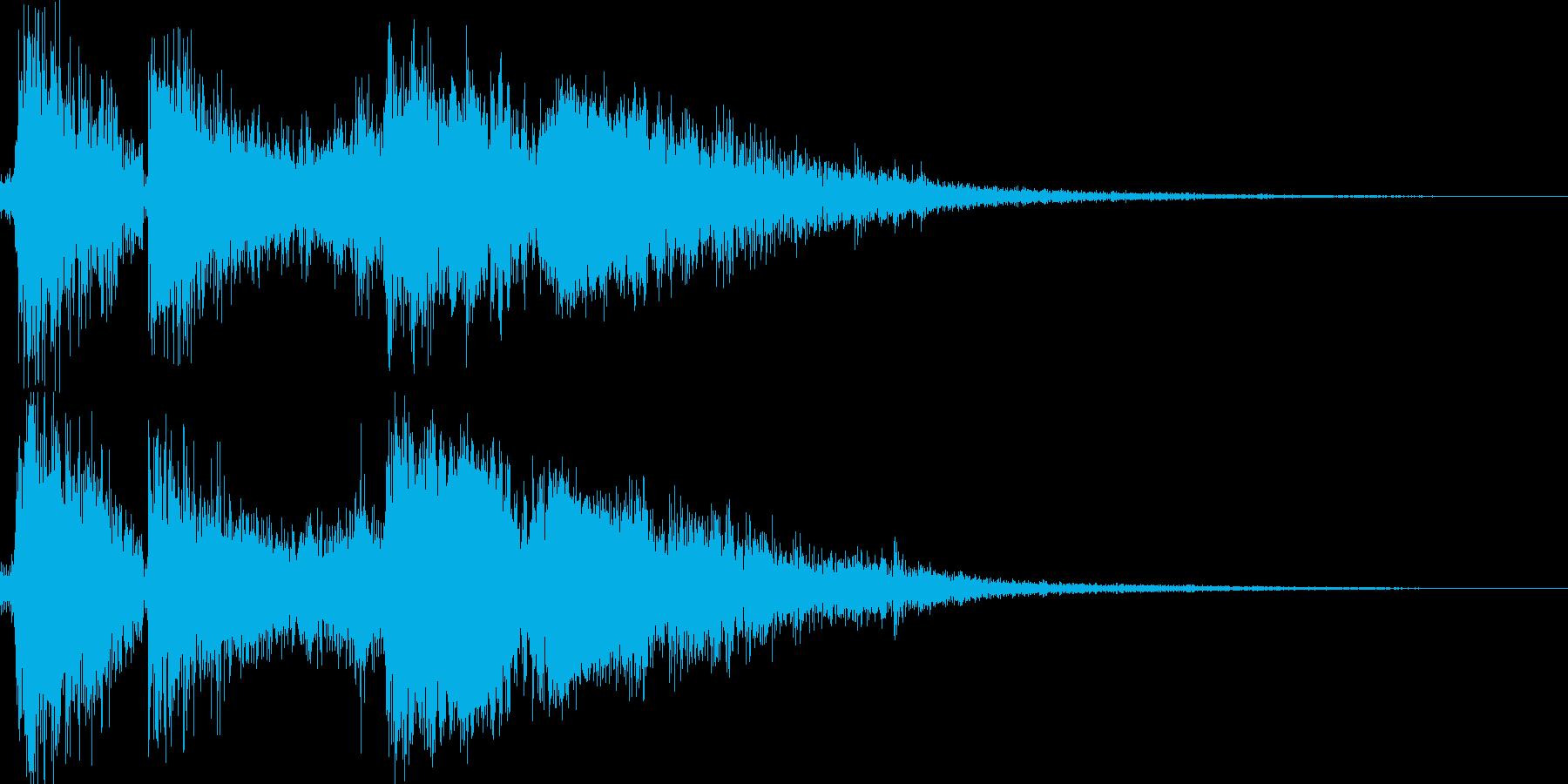 レジスターで精算の再生済みの波形