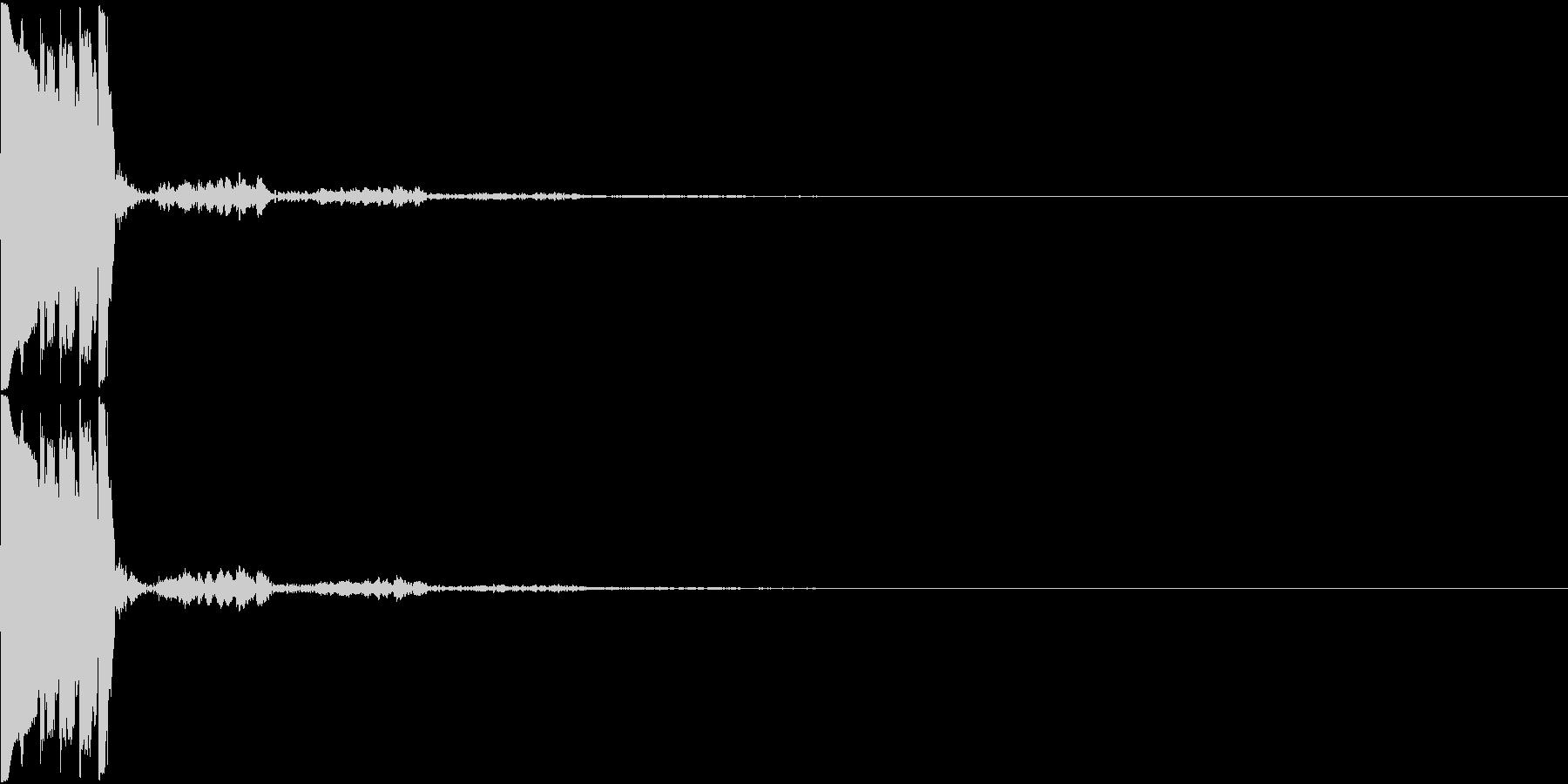 決定音05(トゥリッ)の未再生の波形