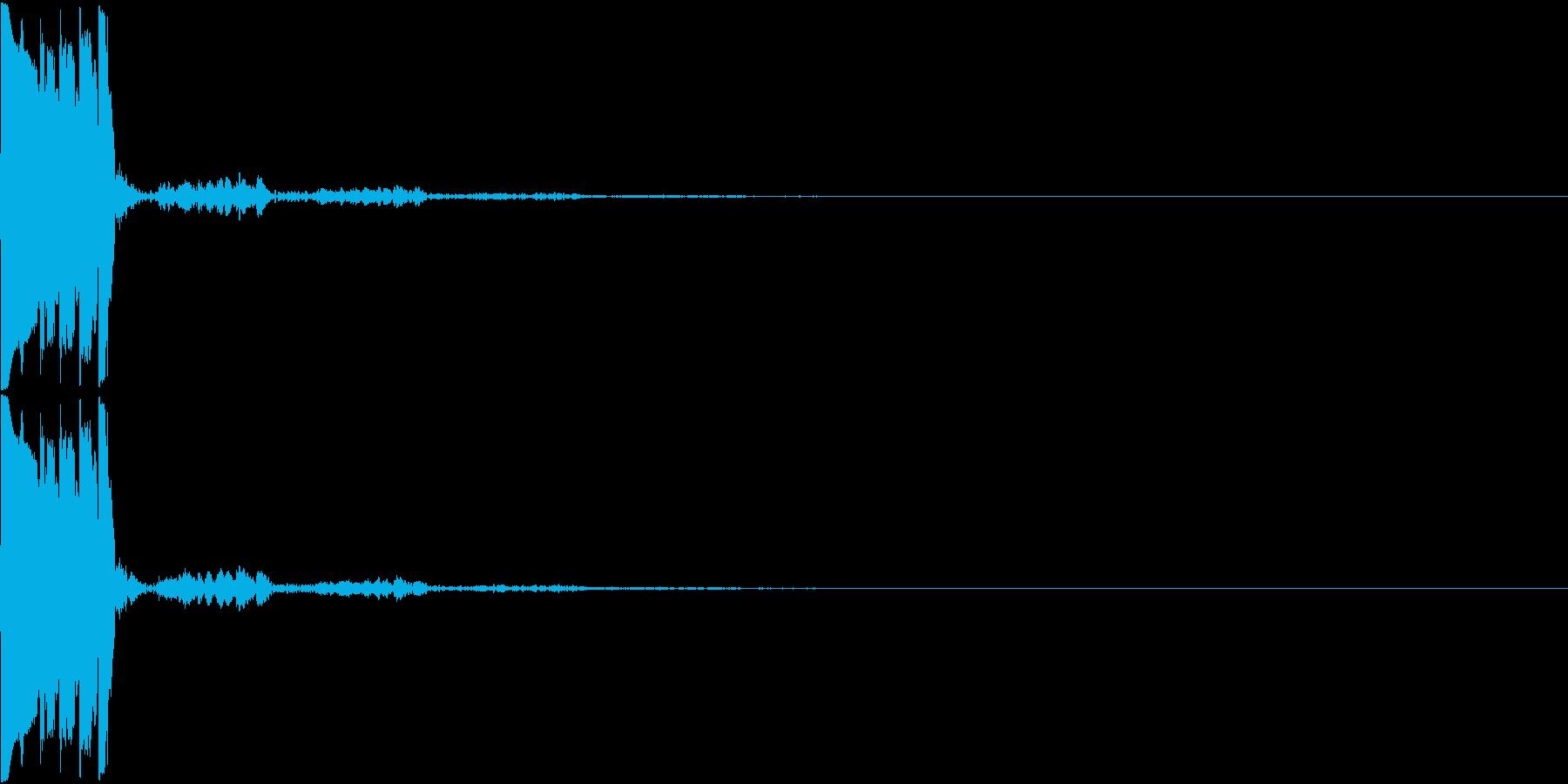 決定音05(トゥリッ)の再生済みの波形