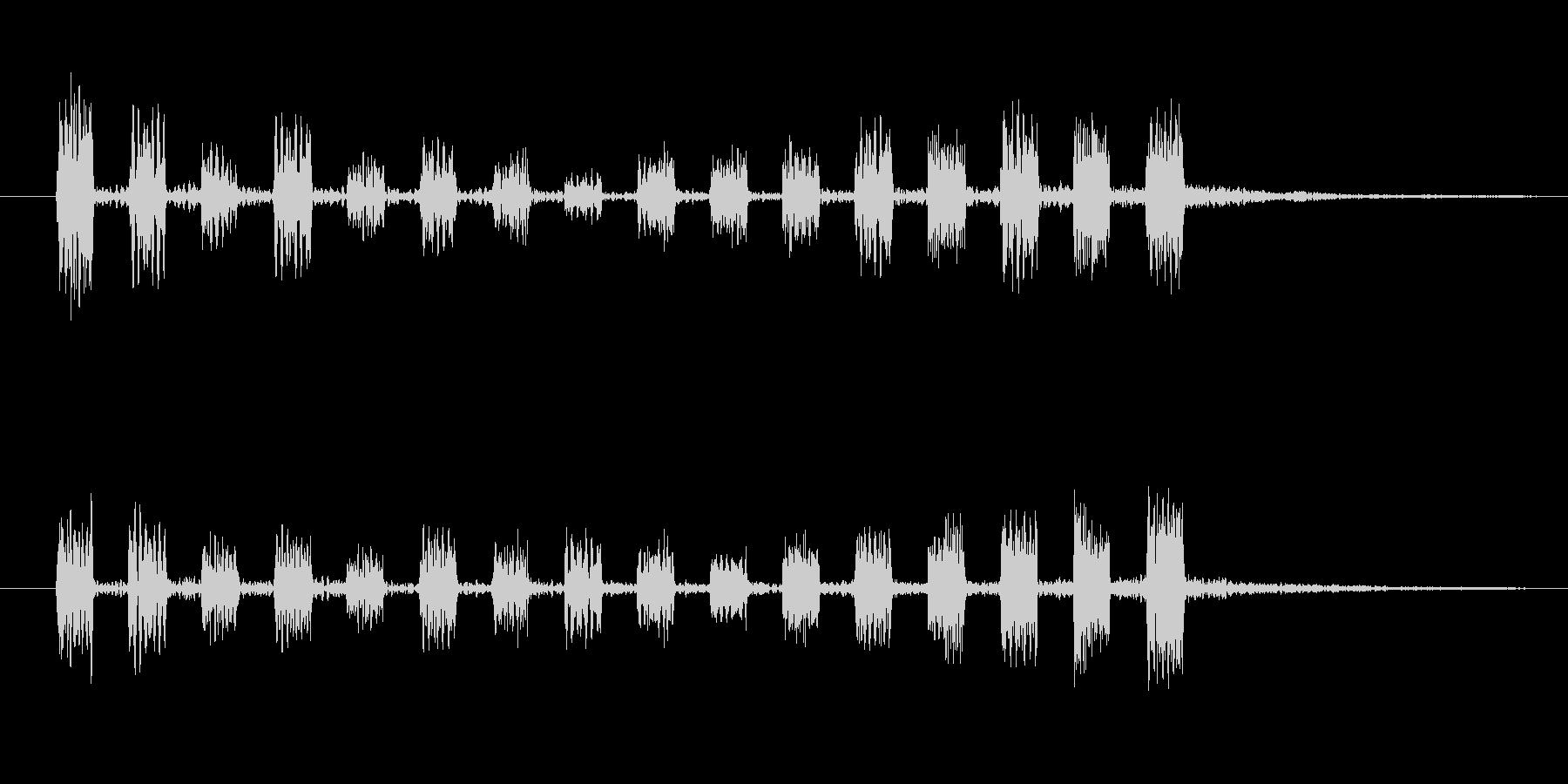 機械が何かをチャージするような音の未再生の波形