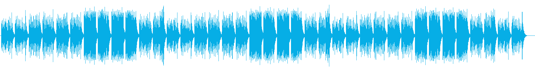 かわいいファンタジーなシンセサイザー曲の再生済みの波形