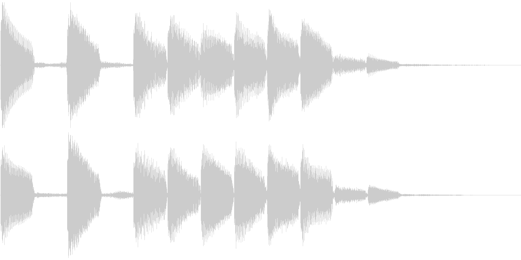 通知音・着信音風ジングル3(ループ)の未再生の波形