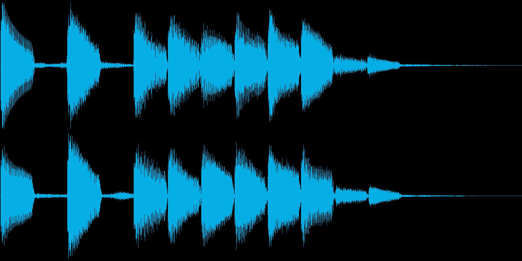 通知音・着信音風ジングル3(ループ)の再生済みの波形