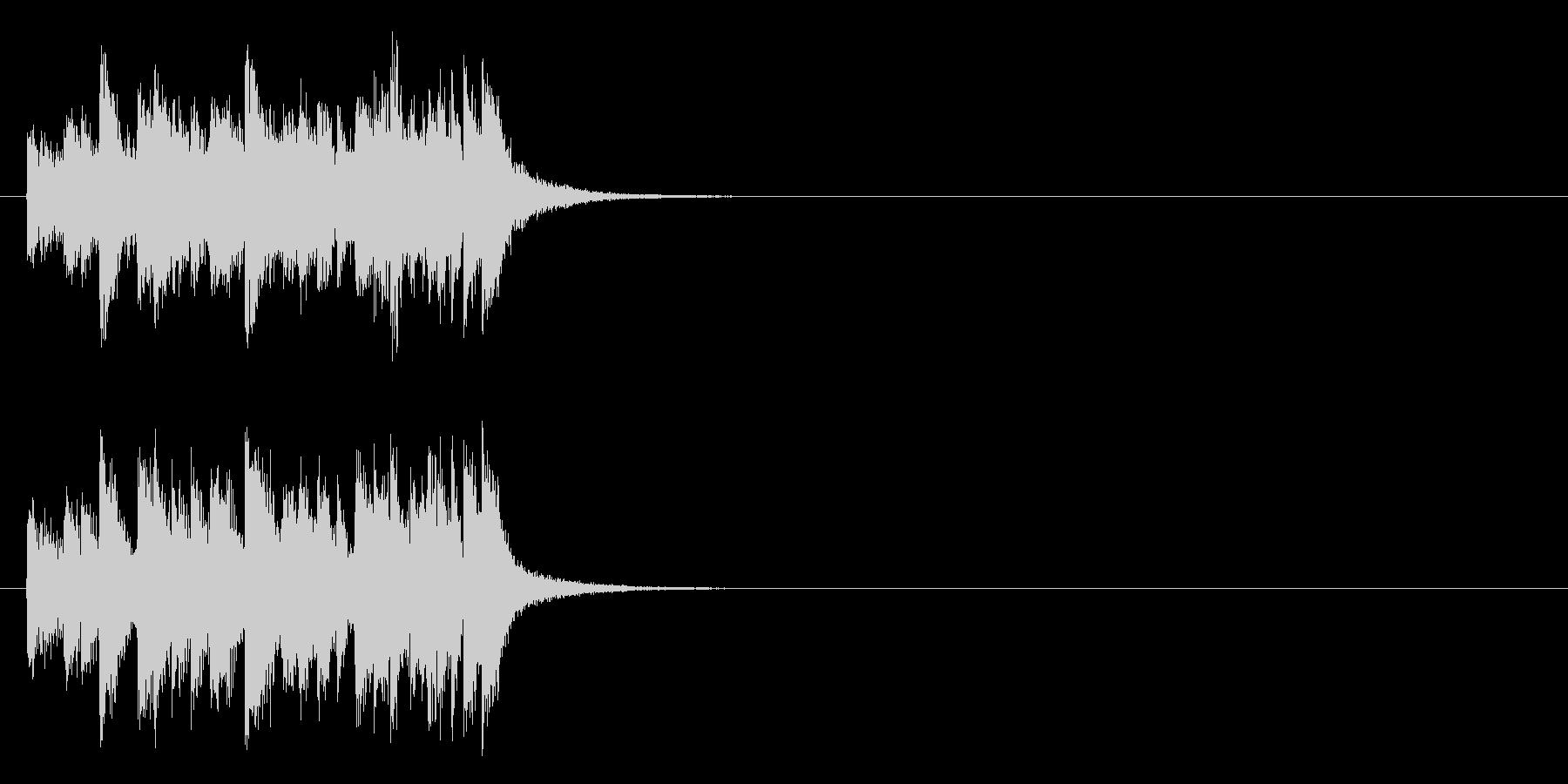 シリアスなドキュメント風マイナー調の曲の未再生の波形